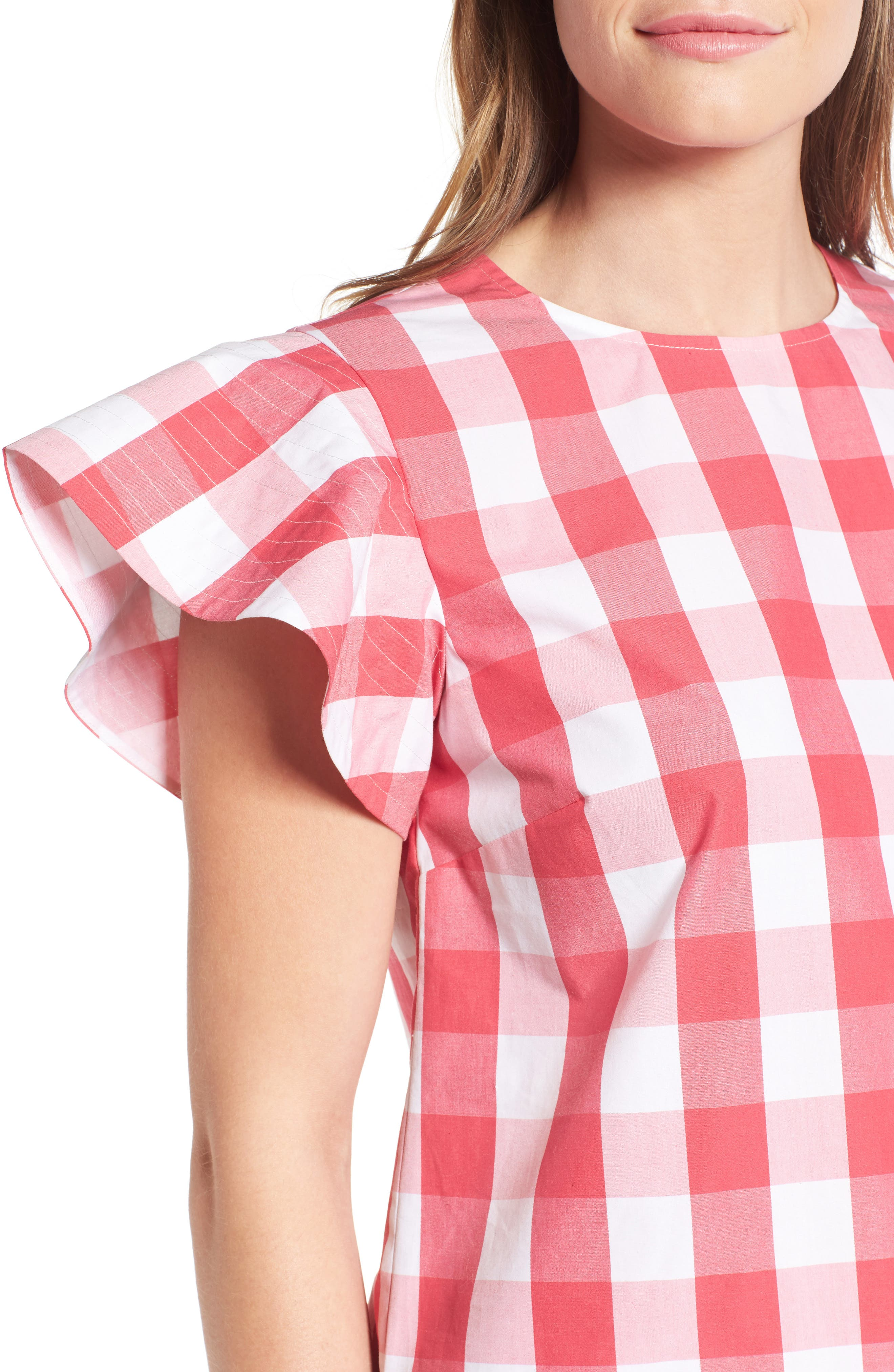 Cloister Gingham Cotton Top,                             Alternate thumbnail 8, color,