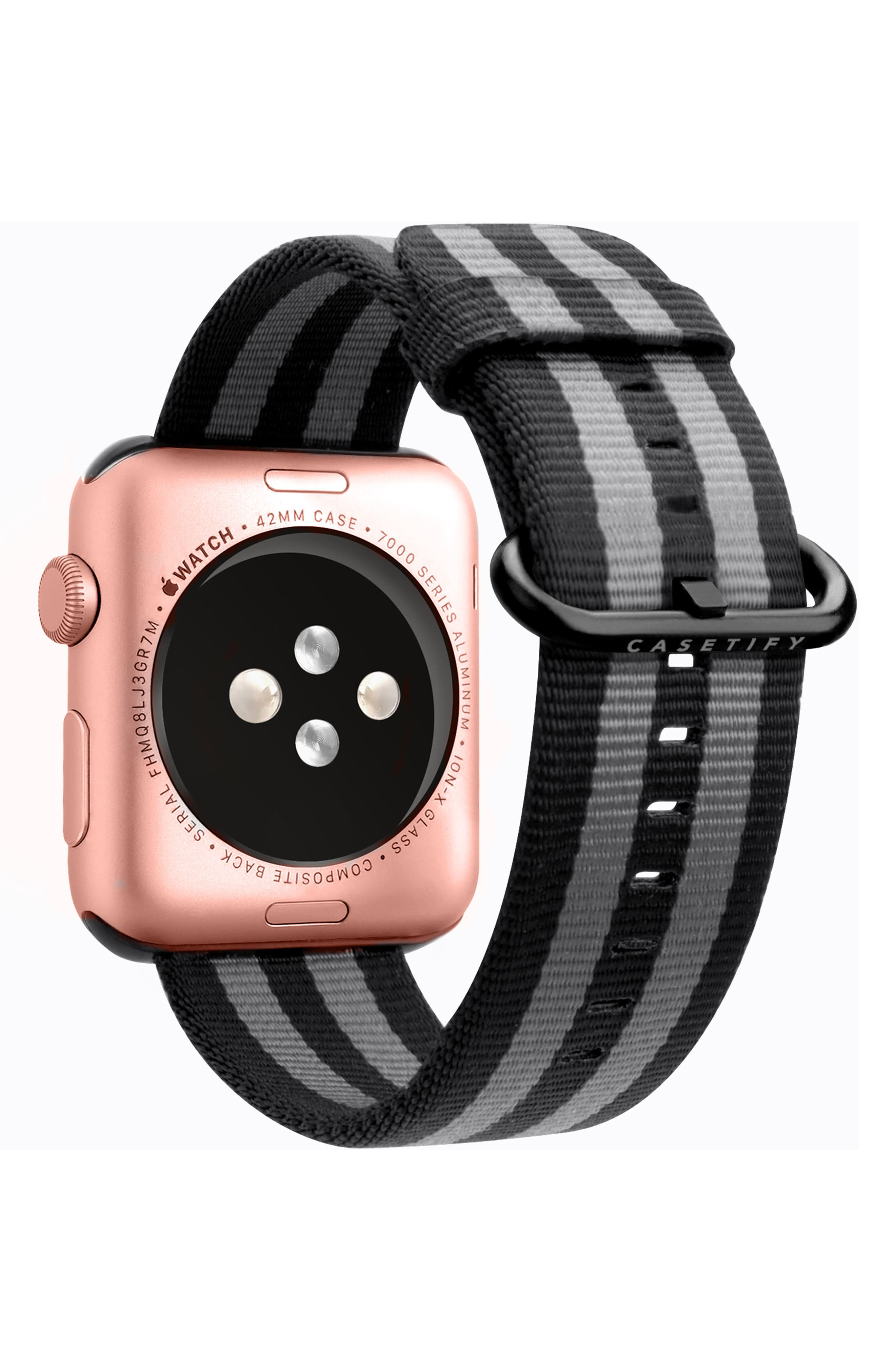 Nylon Apple Watch Strap, 38mm,                             Alternate thumbnail 6, color,