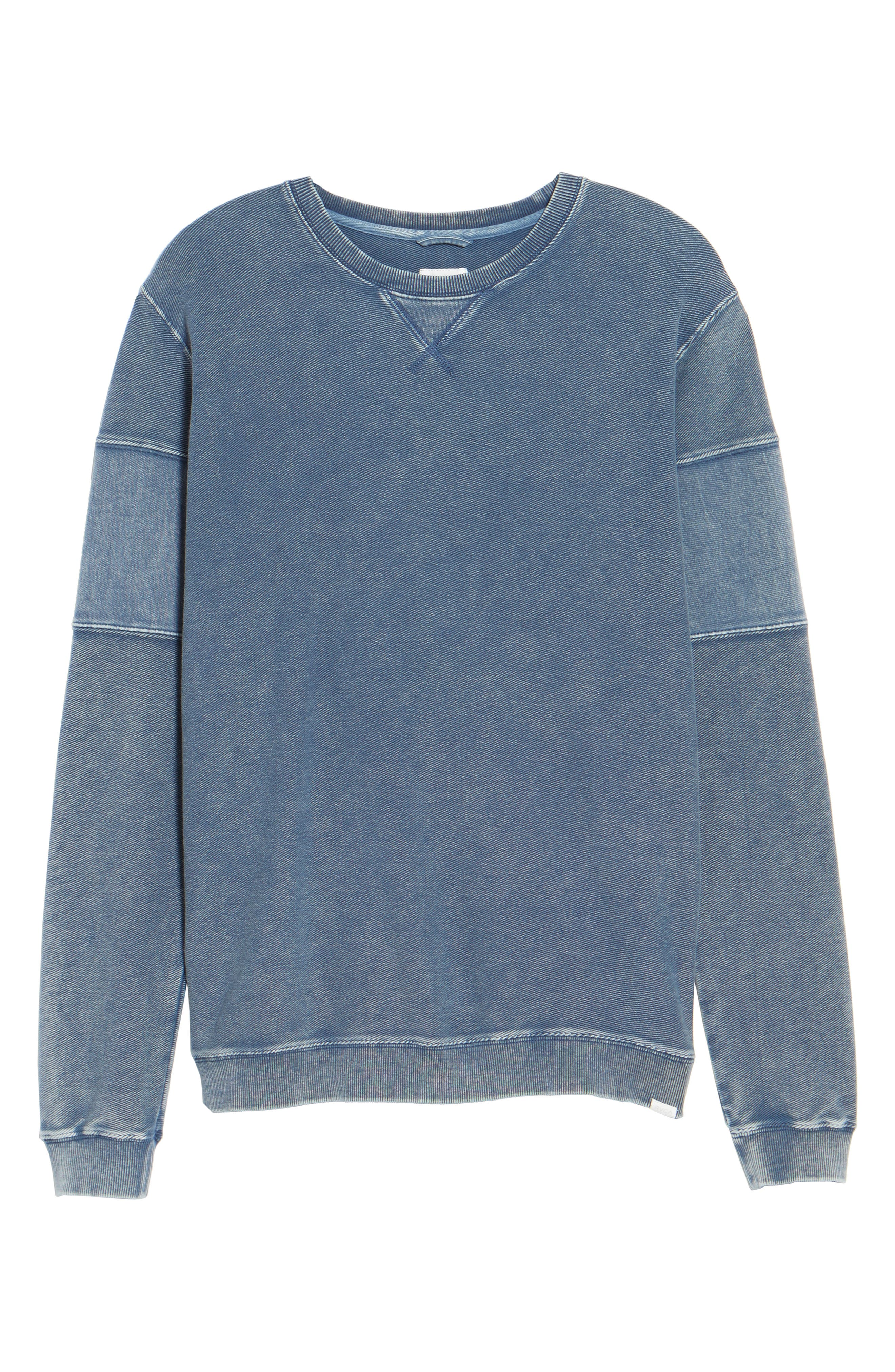 Distressed Sweatshirt,                             Alternate thumbnail 6, color,                             475