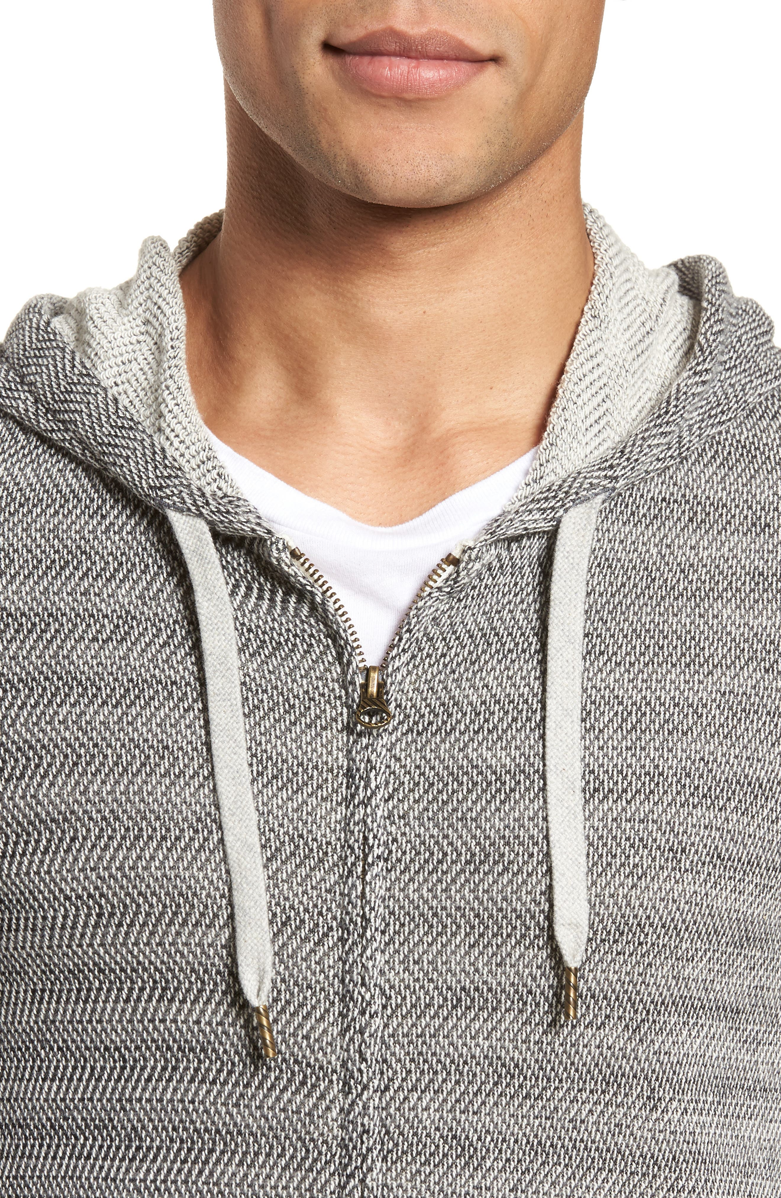 Herringbone Hoodie,                             Alternate thumbnail 4, color,                             010