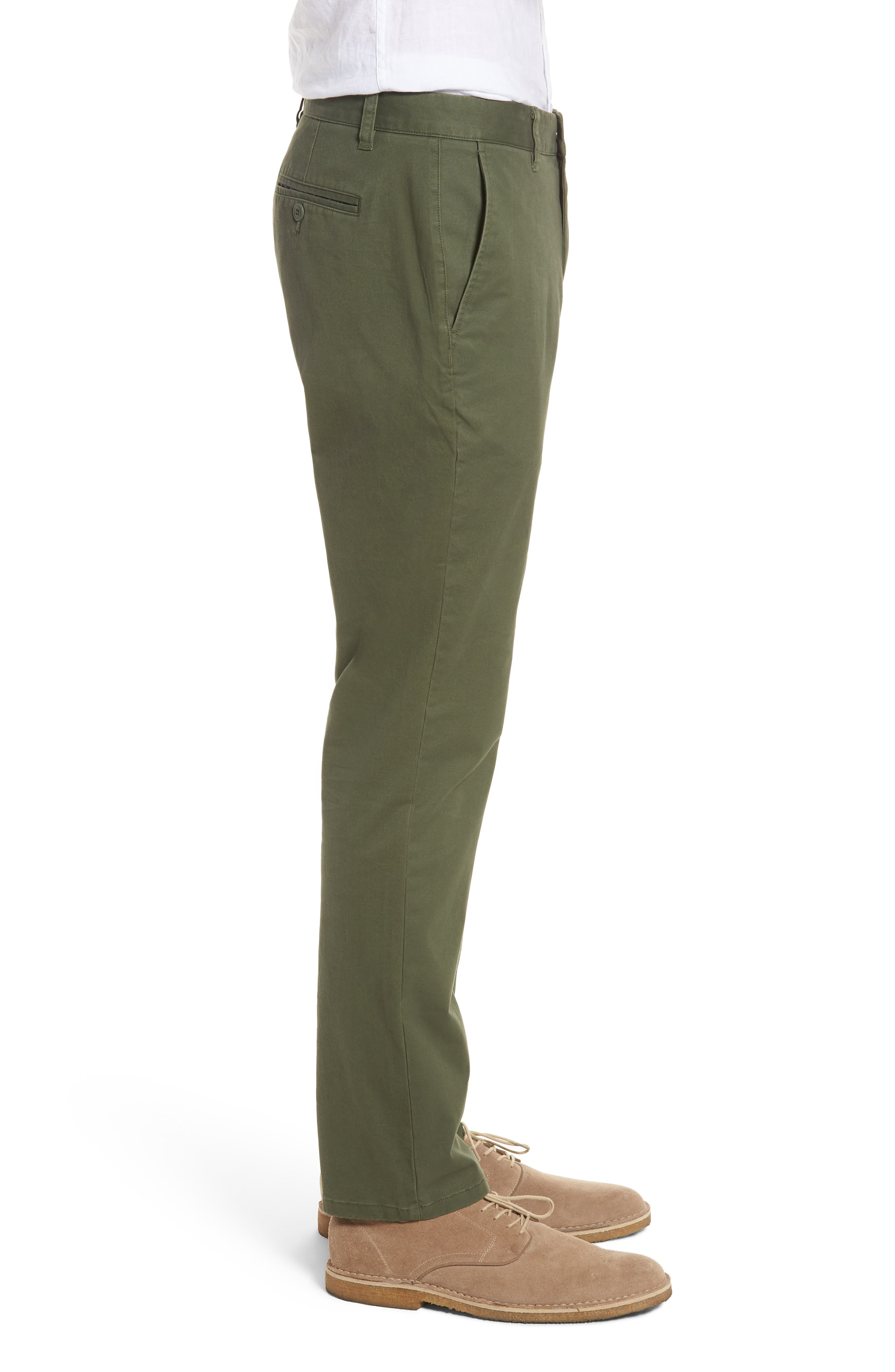 Tailored Fit Washed Stretch Cotton Chinos,                             Alternate thumbnail 78, color,