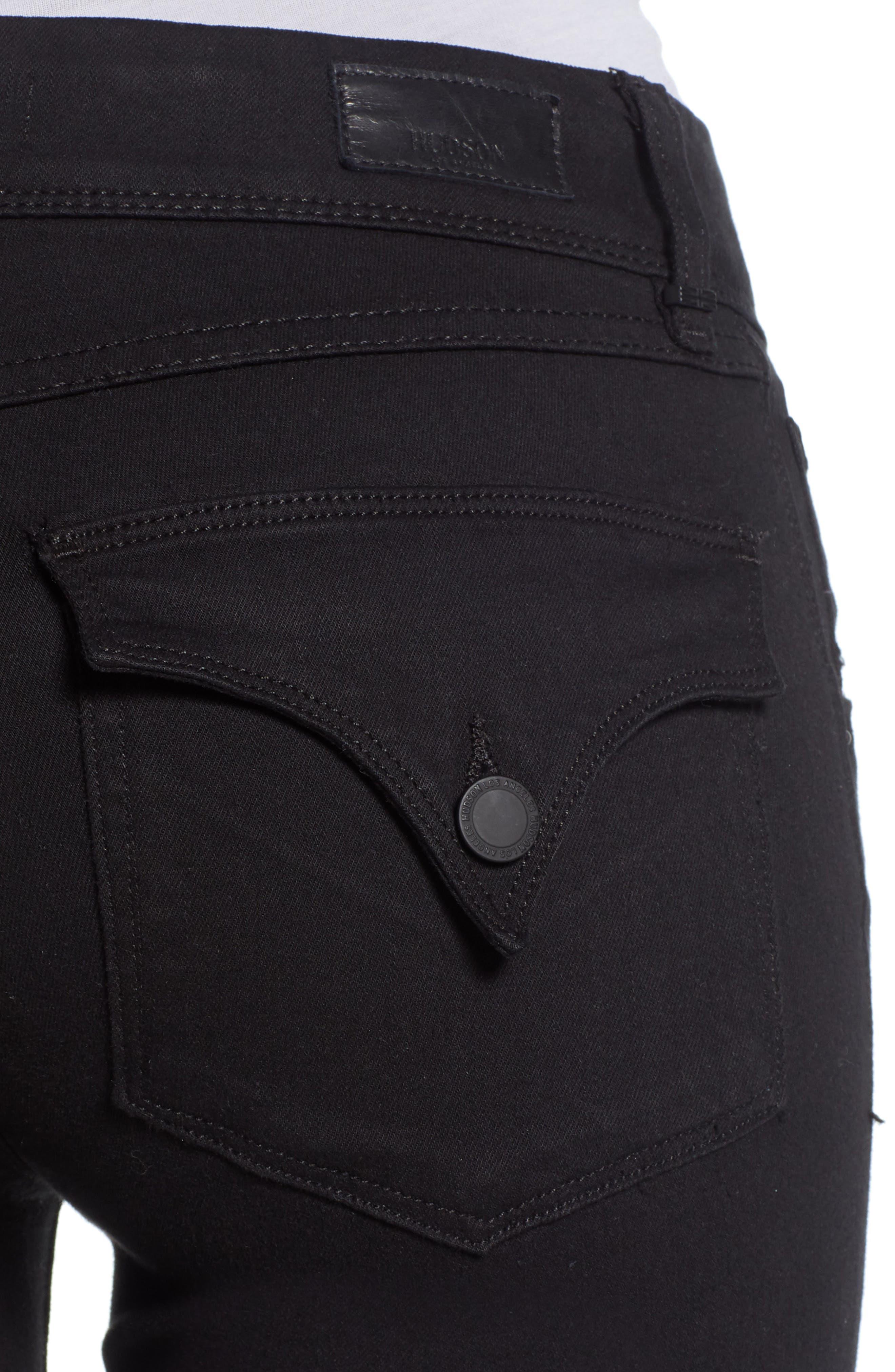 Collin Skinny Jeans,                             Alternate thumbnail 4, color,                             BLACK