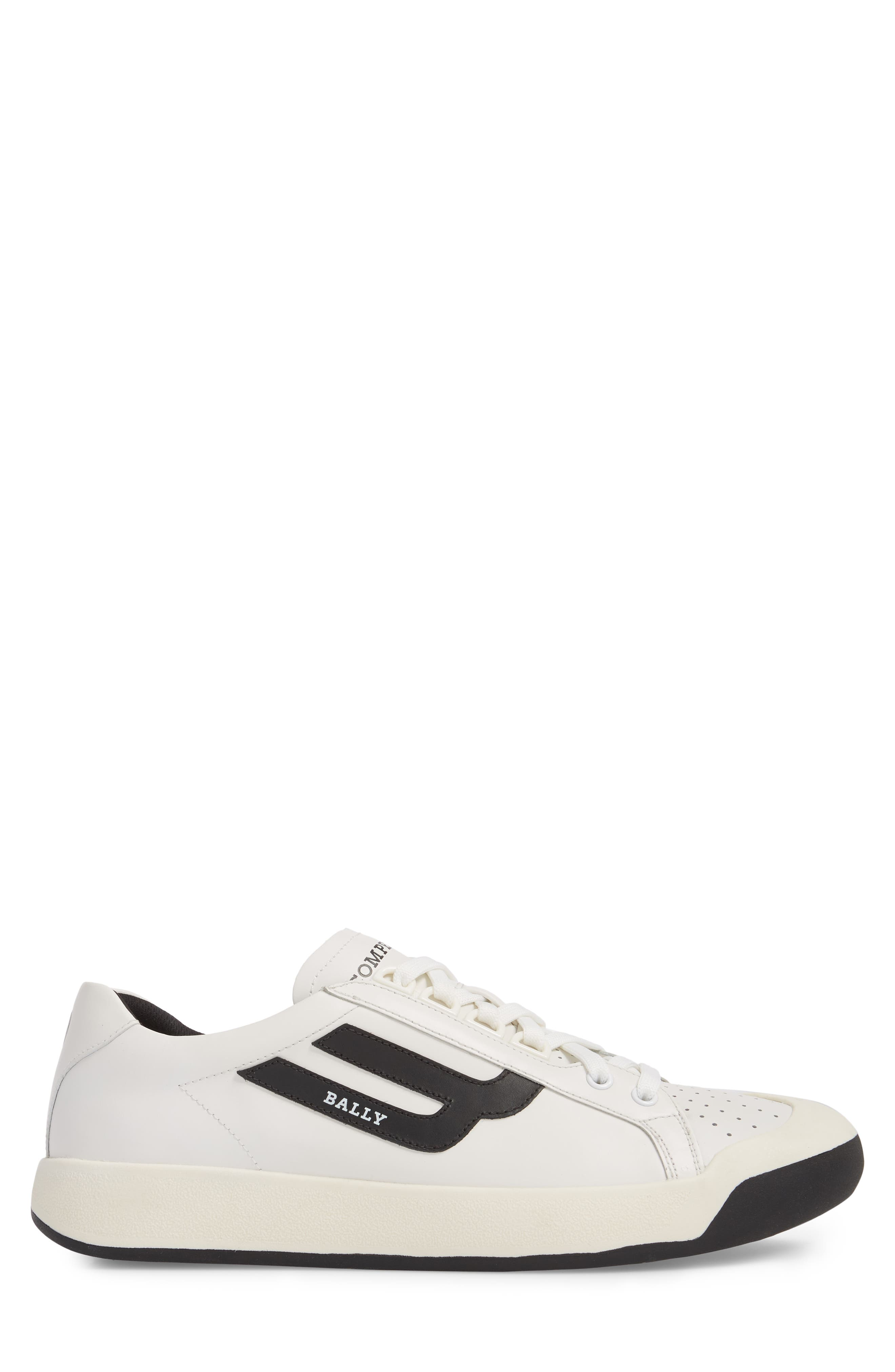 New Competition Sneaker,                             Alternate thumbnail 3, color,                             WHITE