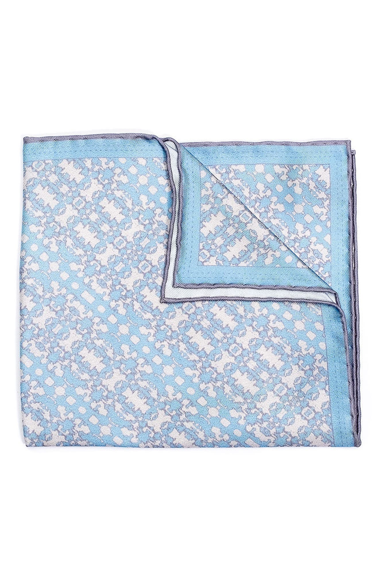 Batik Patterned Silk Pocket Square,                             Main thumbnail 2, color,