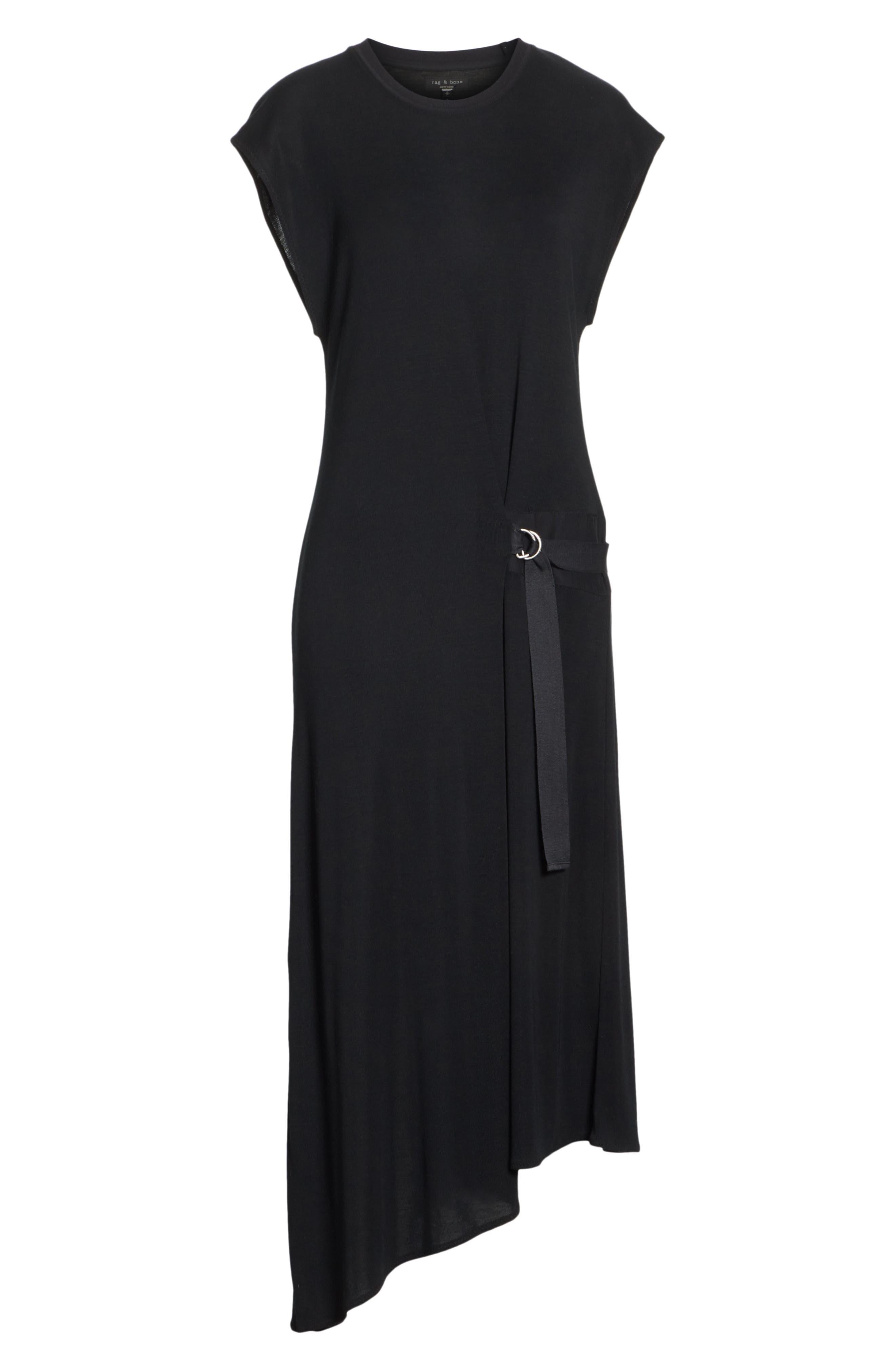 Ophelia Asymmetrical Dress,                             Alternate thumbnail 6, color,                             001