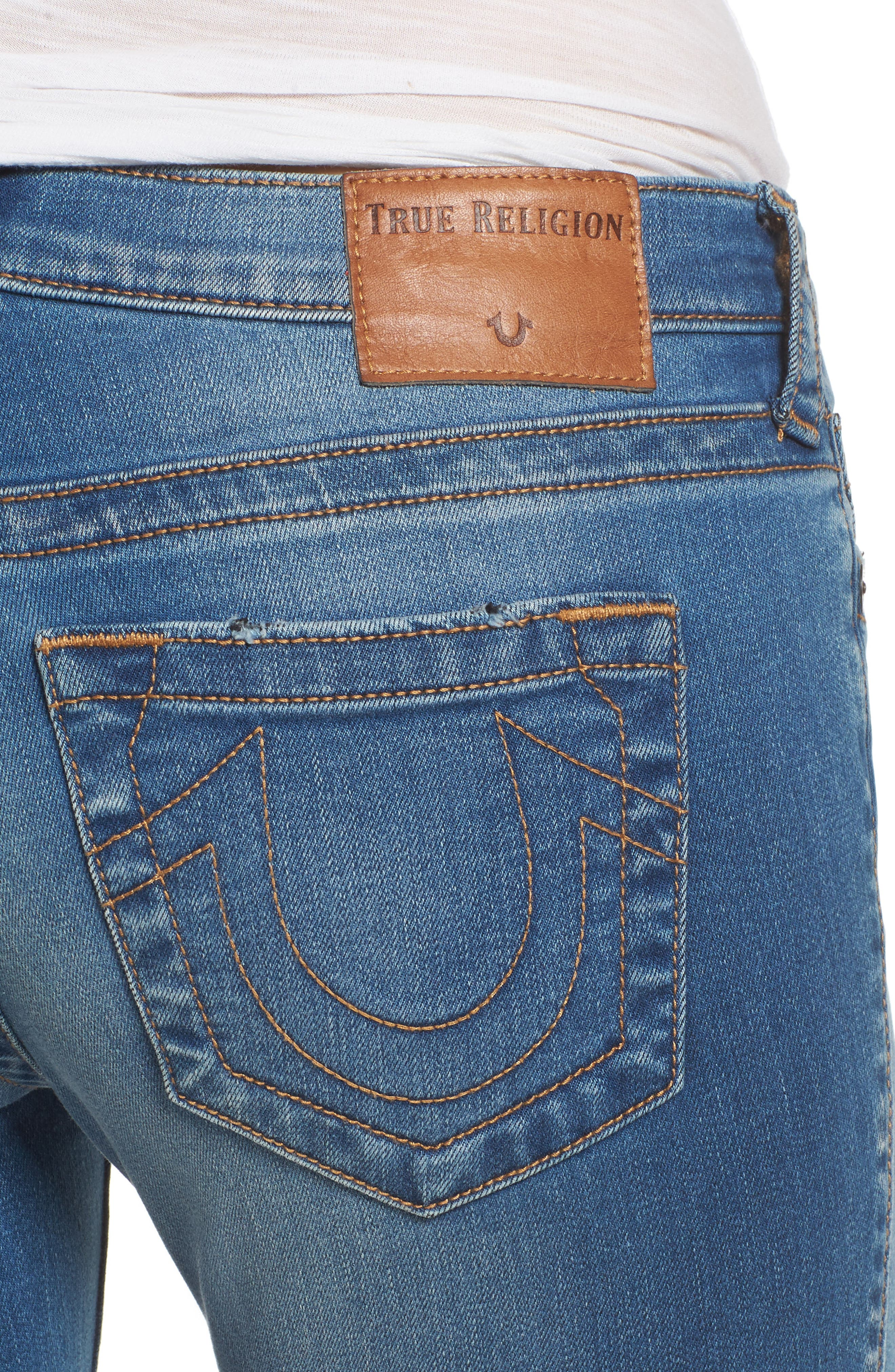 Stella Low Rise Skinny Jeans,                             Alternate thumbnail 4, color,                             400