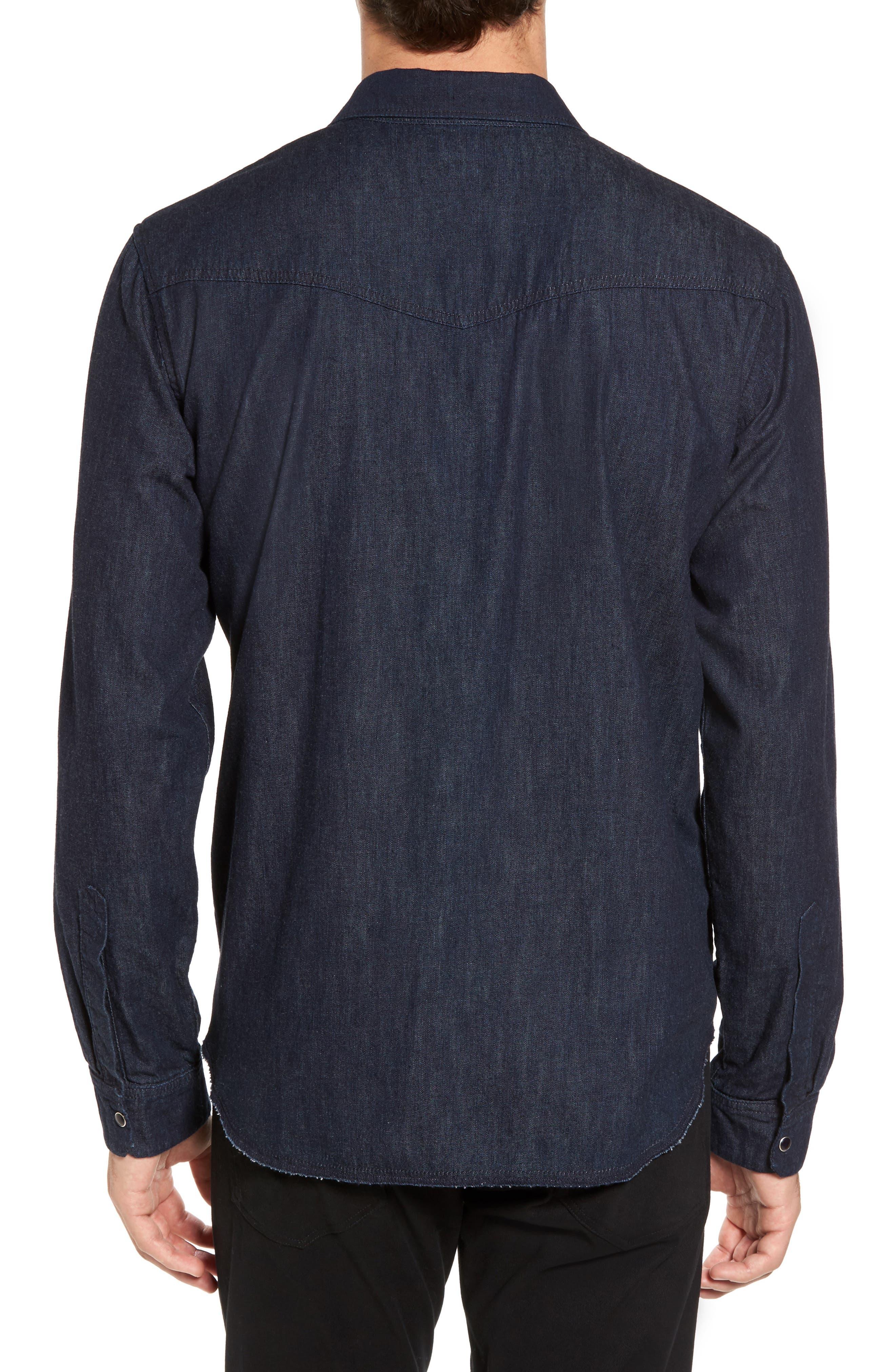 Western Chambray Sport Shirt,                             Alternate thumbnail 2, color,