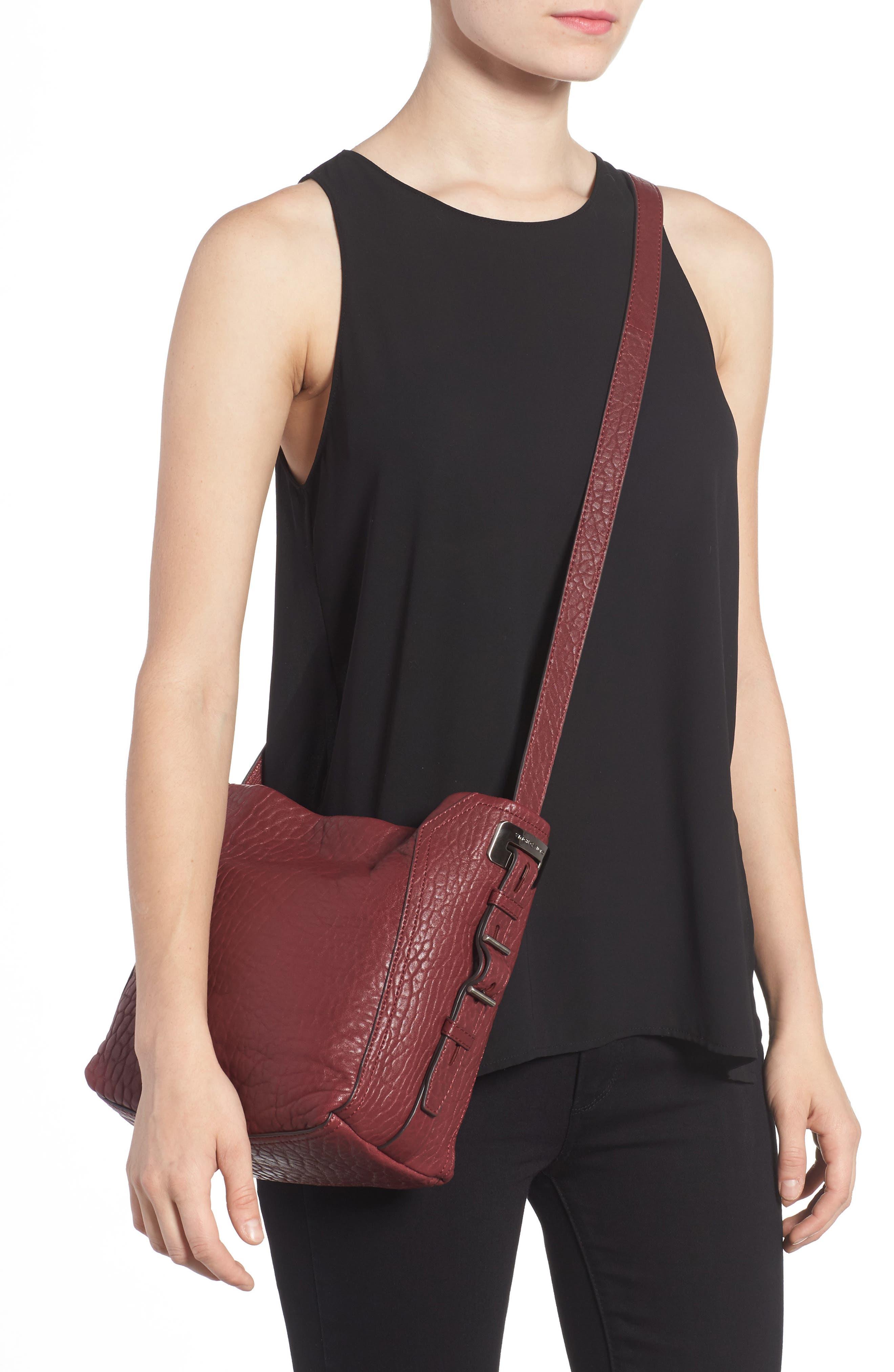 Fava Leather Bucket Bag,                             Alternate thumbnail 6, color,