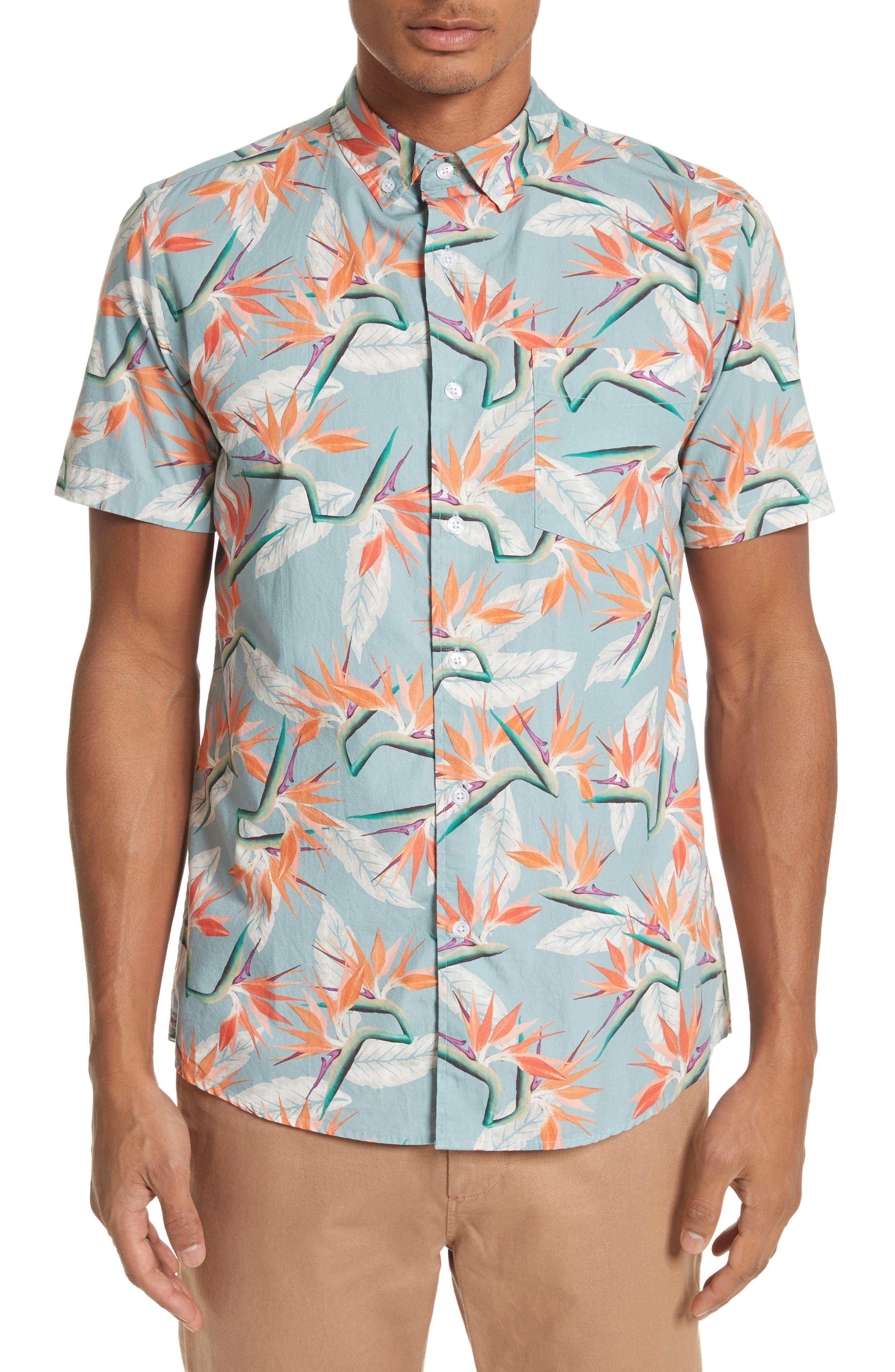 Esquina Paradise Woven Shirt,                         Main,                         color, PARADISE PRINT