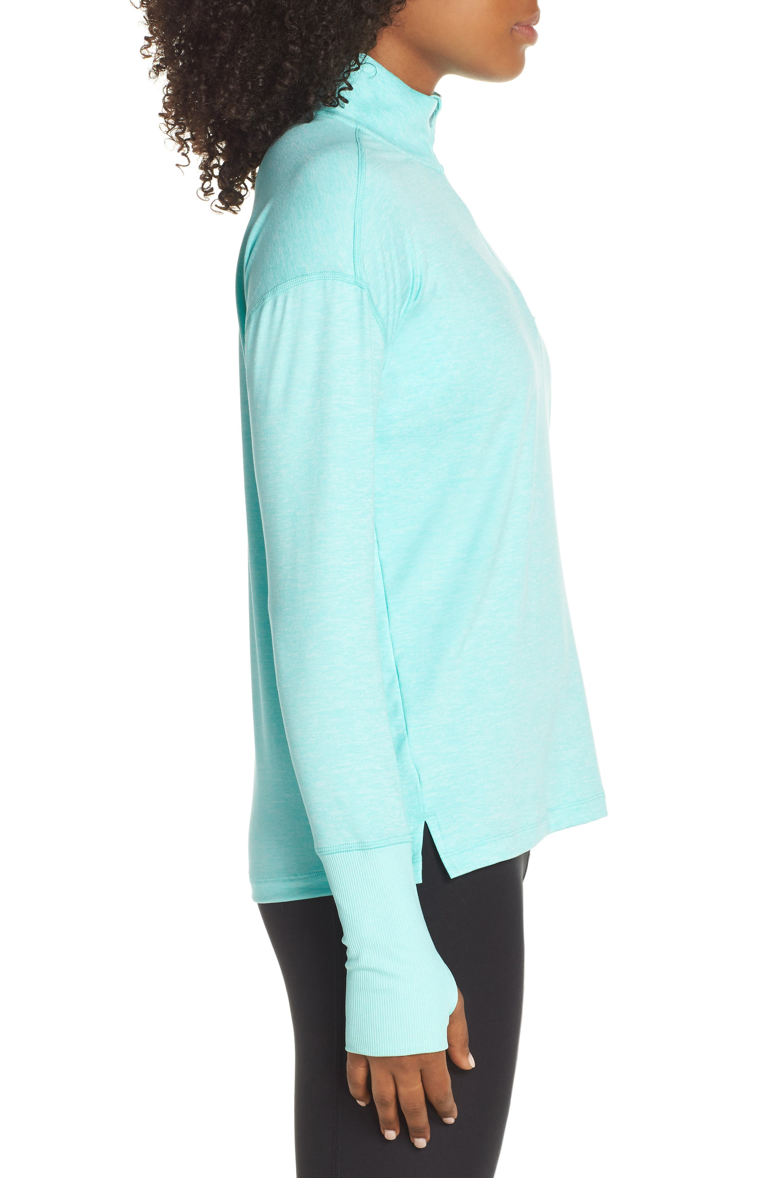 Element Long-Sleeve Running Top,                             Alternate thumbnail 3, color,                             TROPICAL TWIST/ TEAL TINT