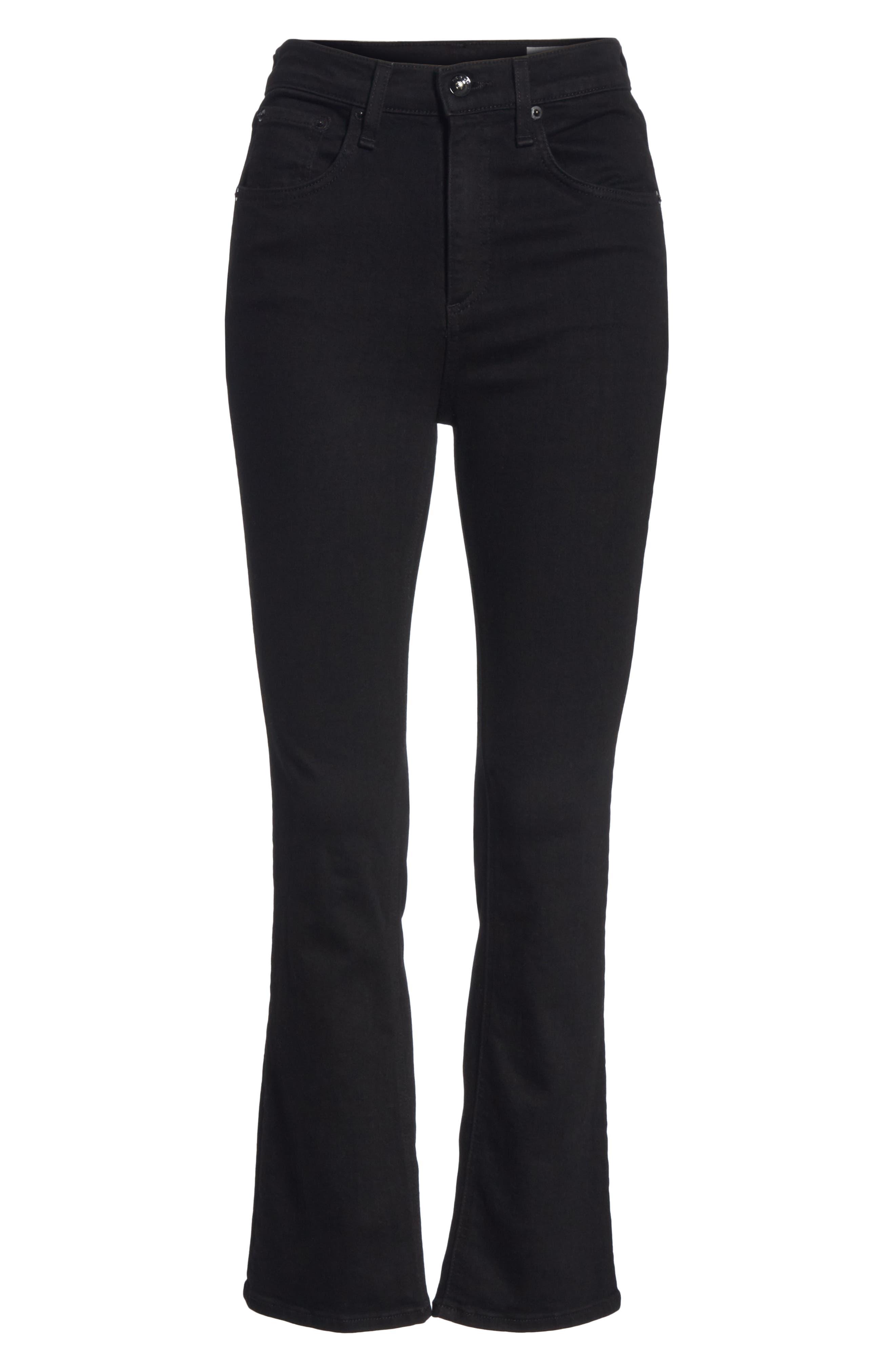RAG & BONE,                             Hana High Waist Ankle Flare Jeans,                             Alternate thumbnail 6, color,                             001