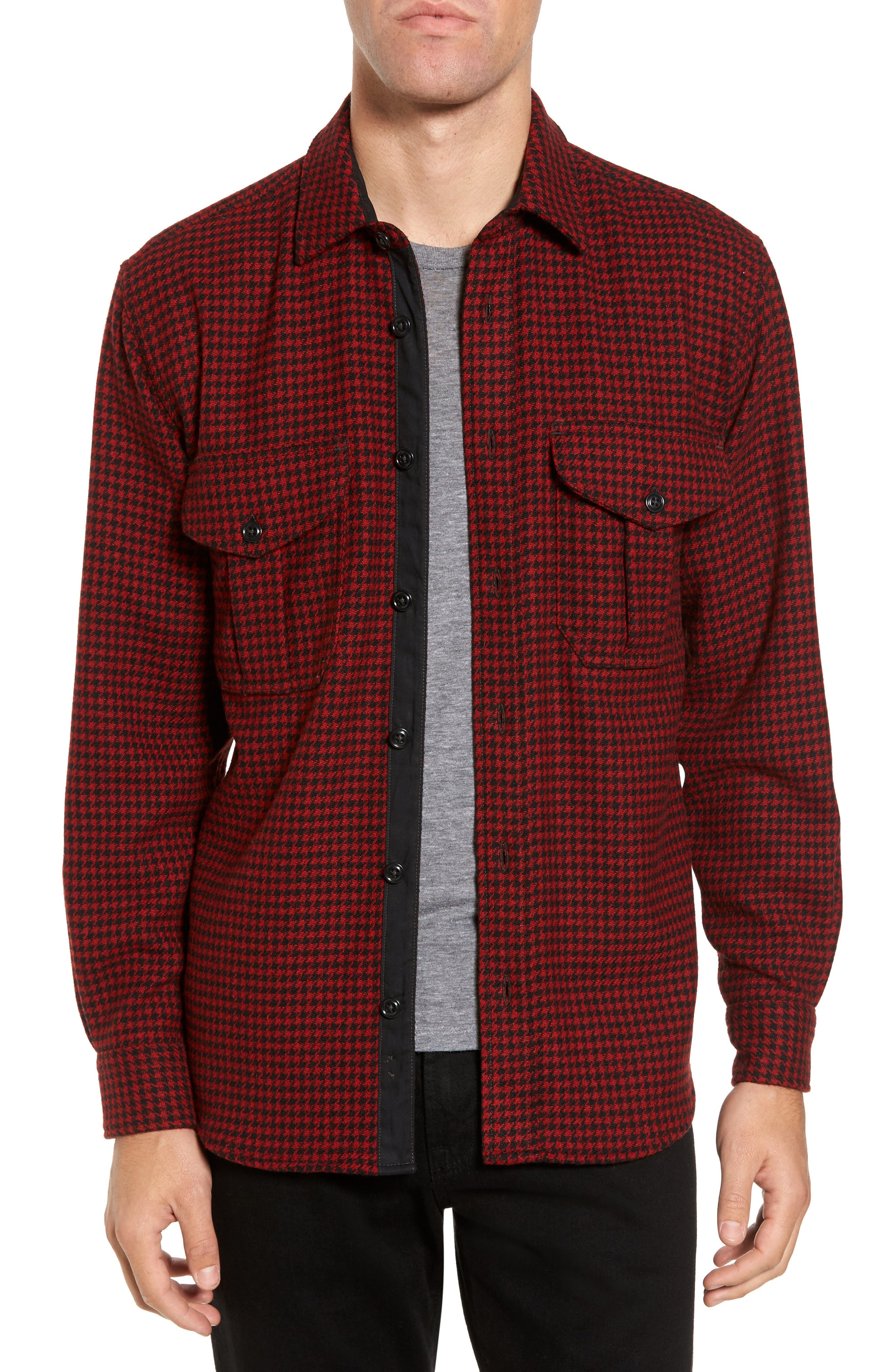 Northwest Houndstooth Shirt Jacket,                         Main,                         color, 645