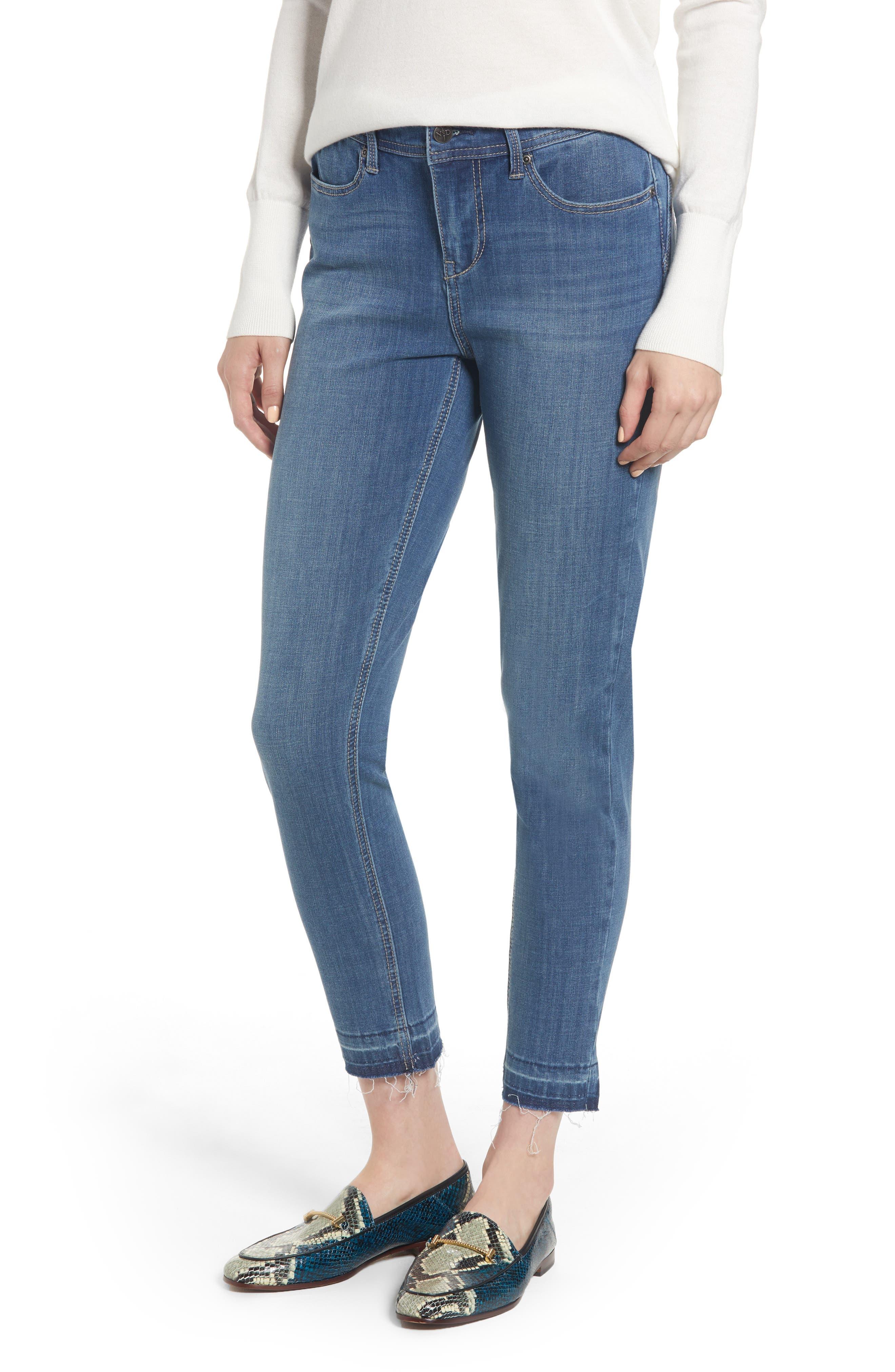 Release Hem Skinny Jeans,                         Main,                         color, LEAR