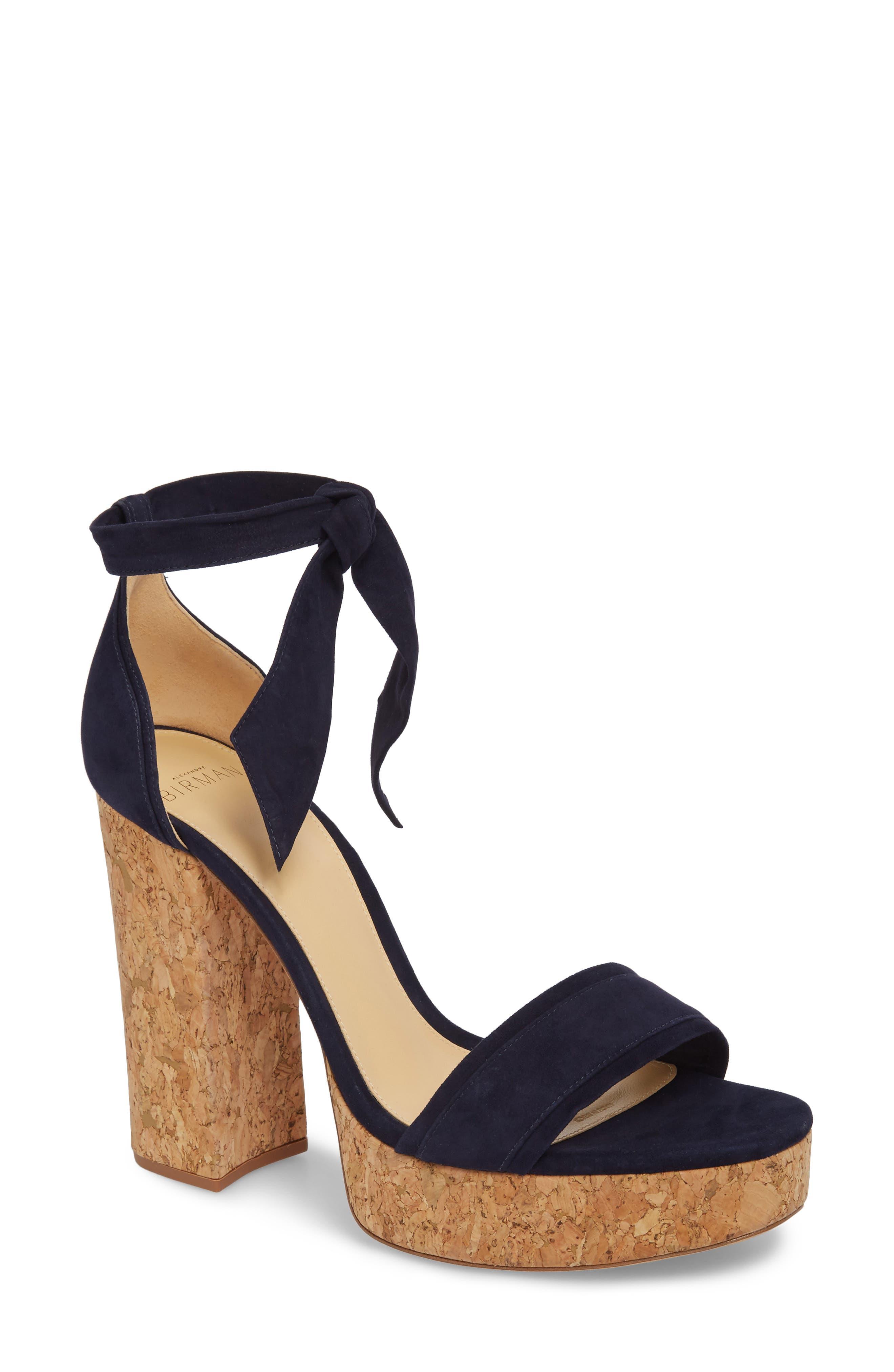 Celine Ankle Tie Platform Sandal,                             Main thumbnail 1, color,                             400