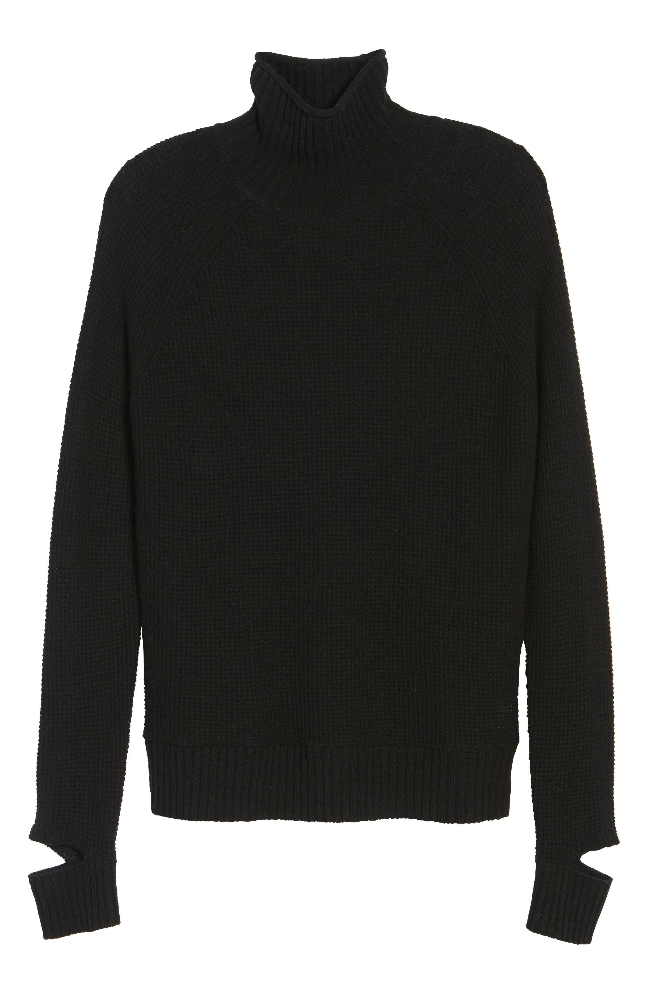 Jenni Turtleneck Sweater,                             Alternate thumbnail 6, color,                             001