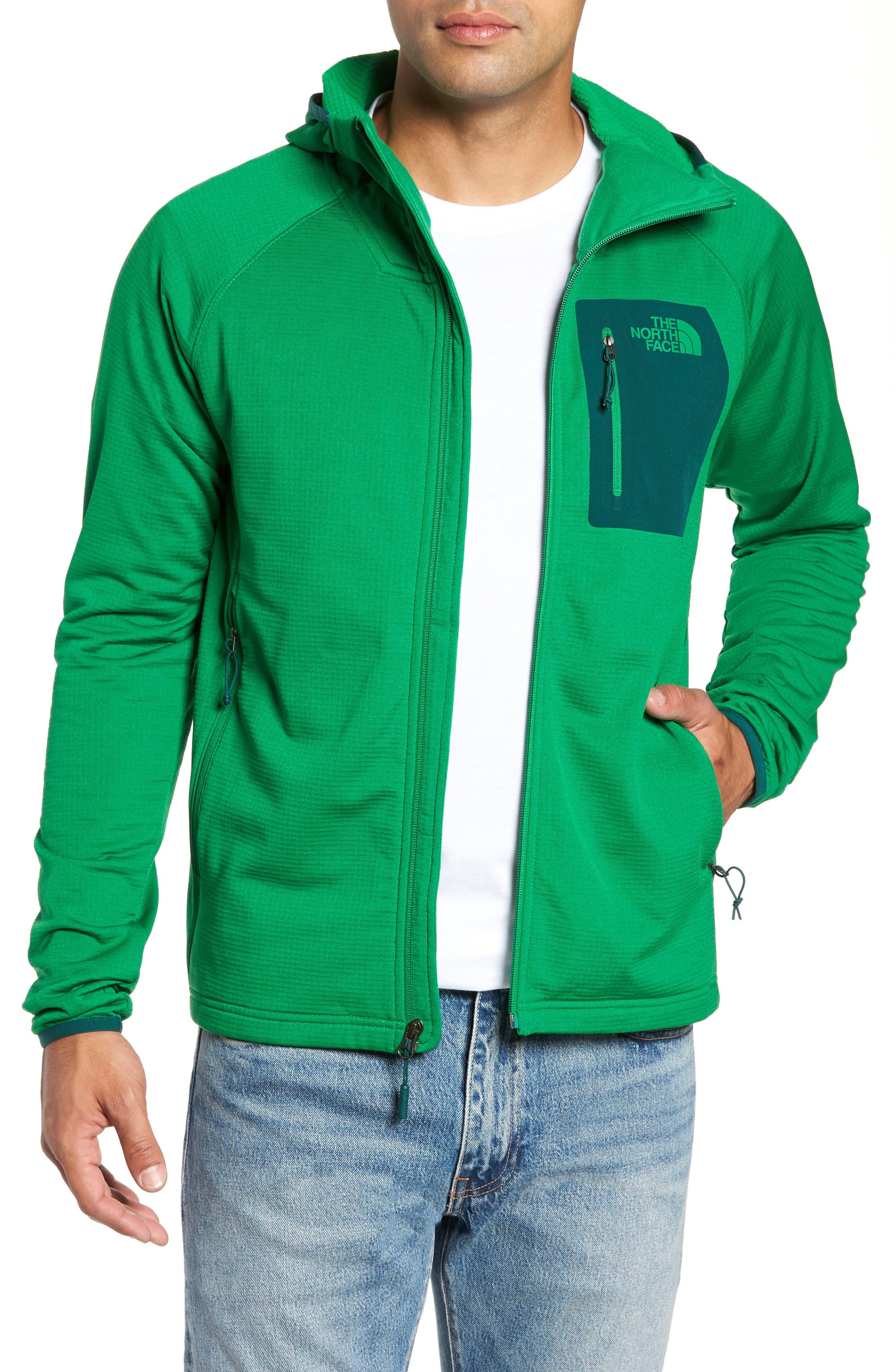 Borod Zip Fleece Jacket,                             Main thumbnail 1, color,                             PRIMARY GREEN/GARDEN GREEN