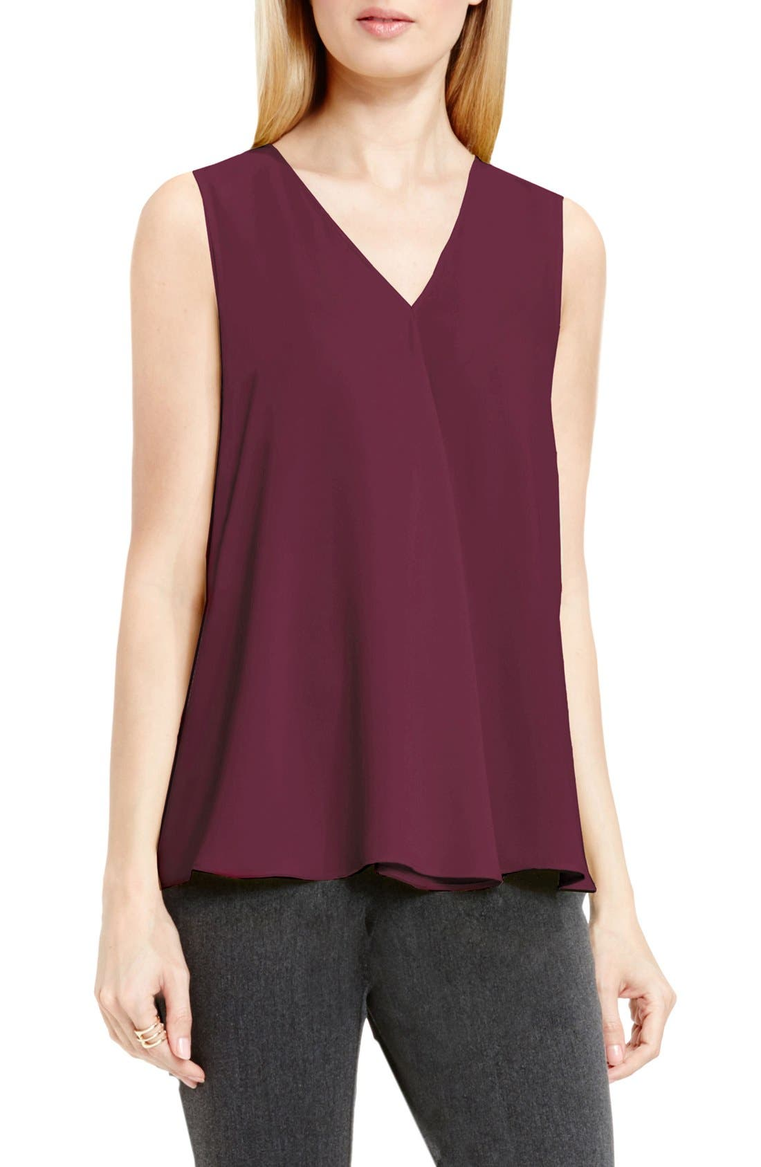 Drape Front V-Neck Sleeveless Blouse,                             Alternate thumbnail 54, color,