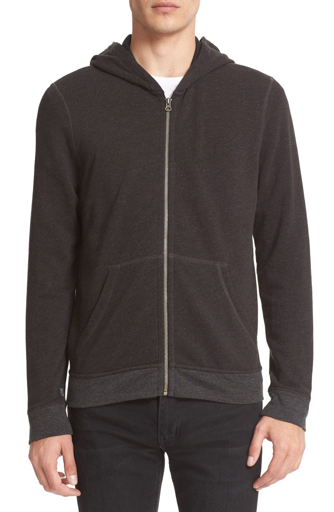 French Terry Full Zip Hoodie,                             Main thumbnail 1, color,                             021