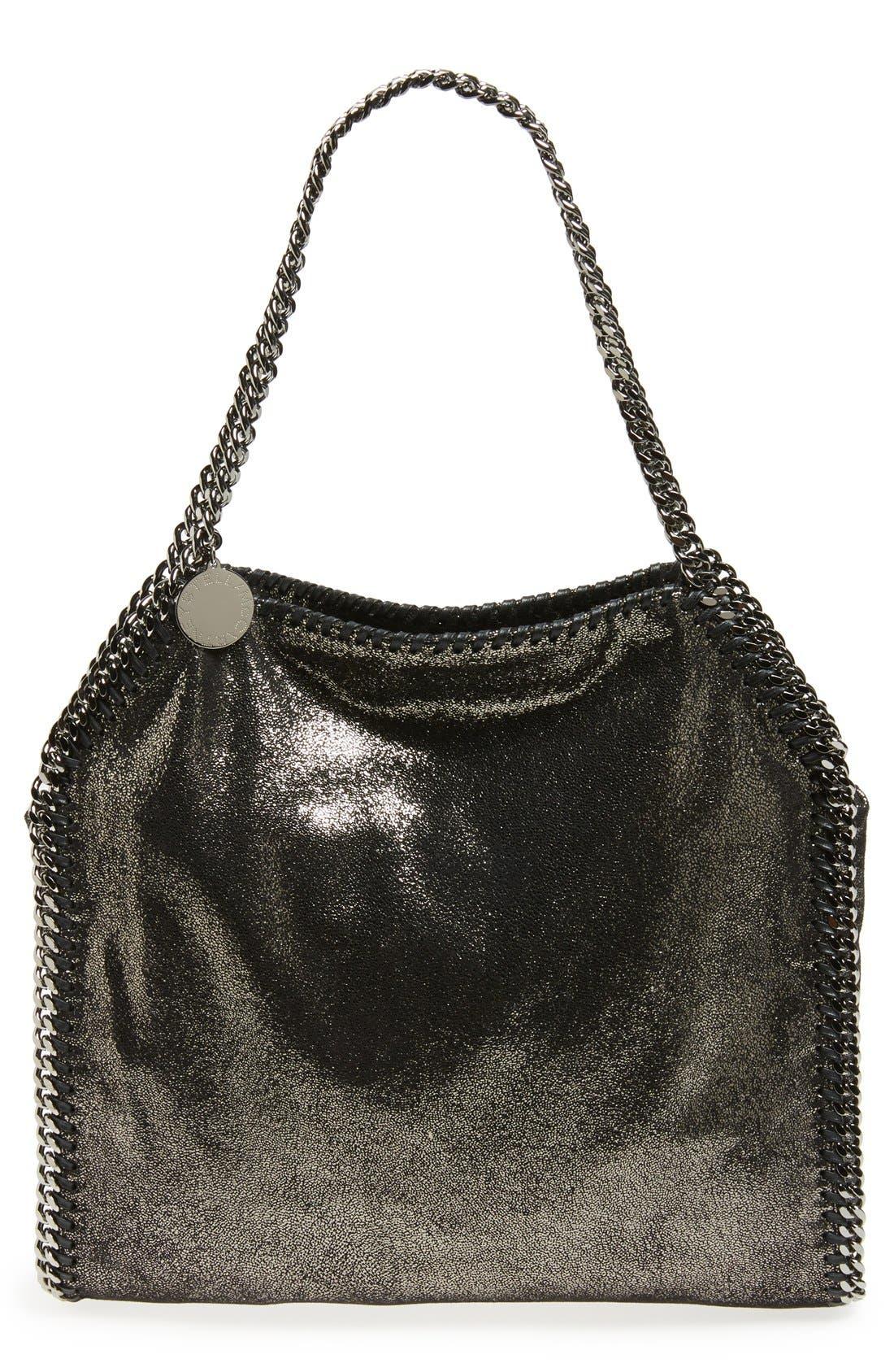 'Small Falabella' Faux Leather Tote,                         Main,                         color,