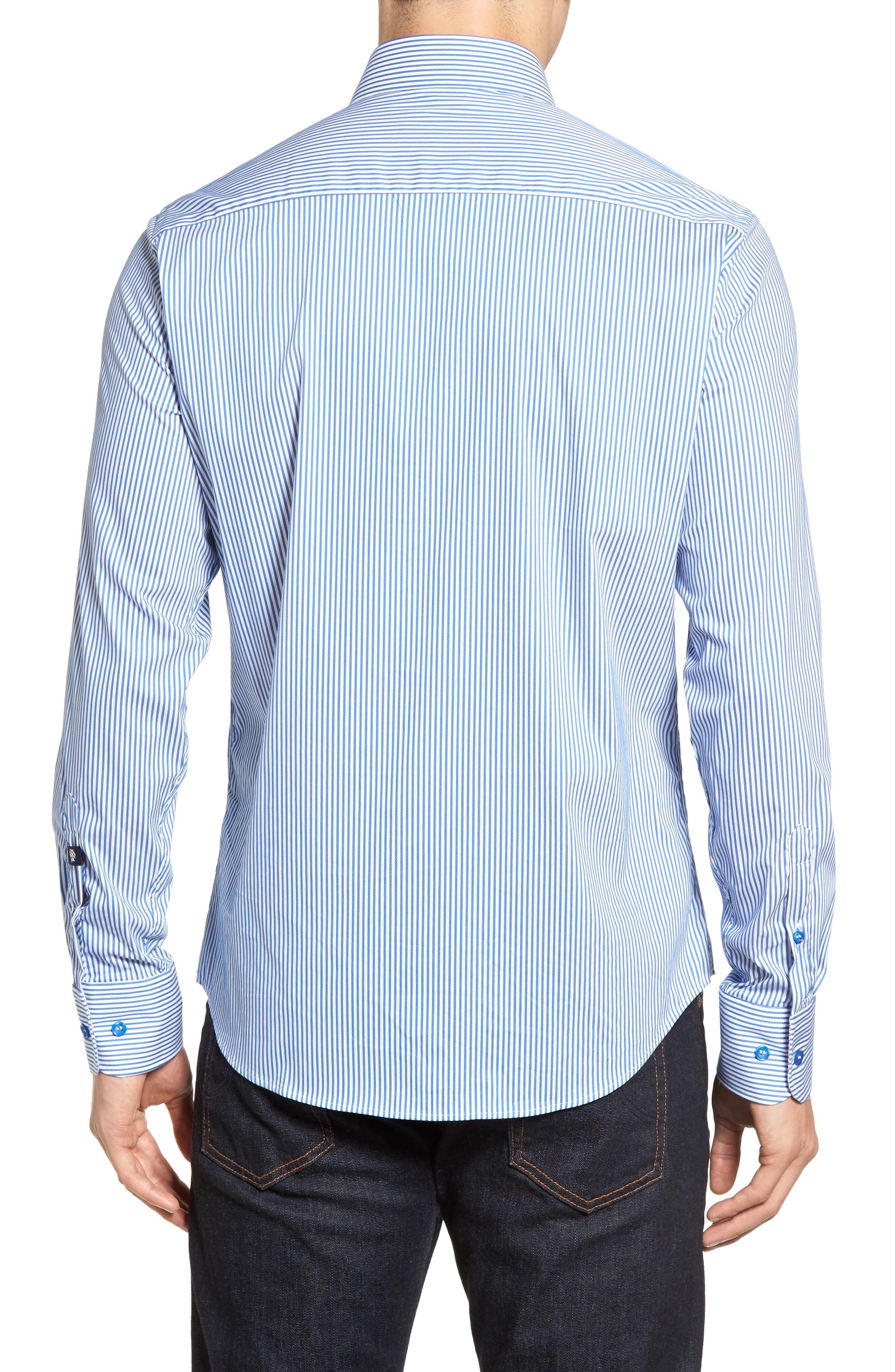 Technical Stripe Sport Shirt,                             Alternate thumbnail 4, color,