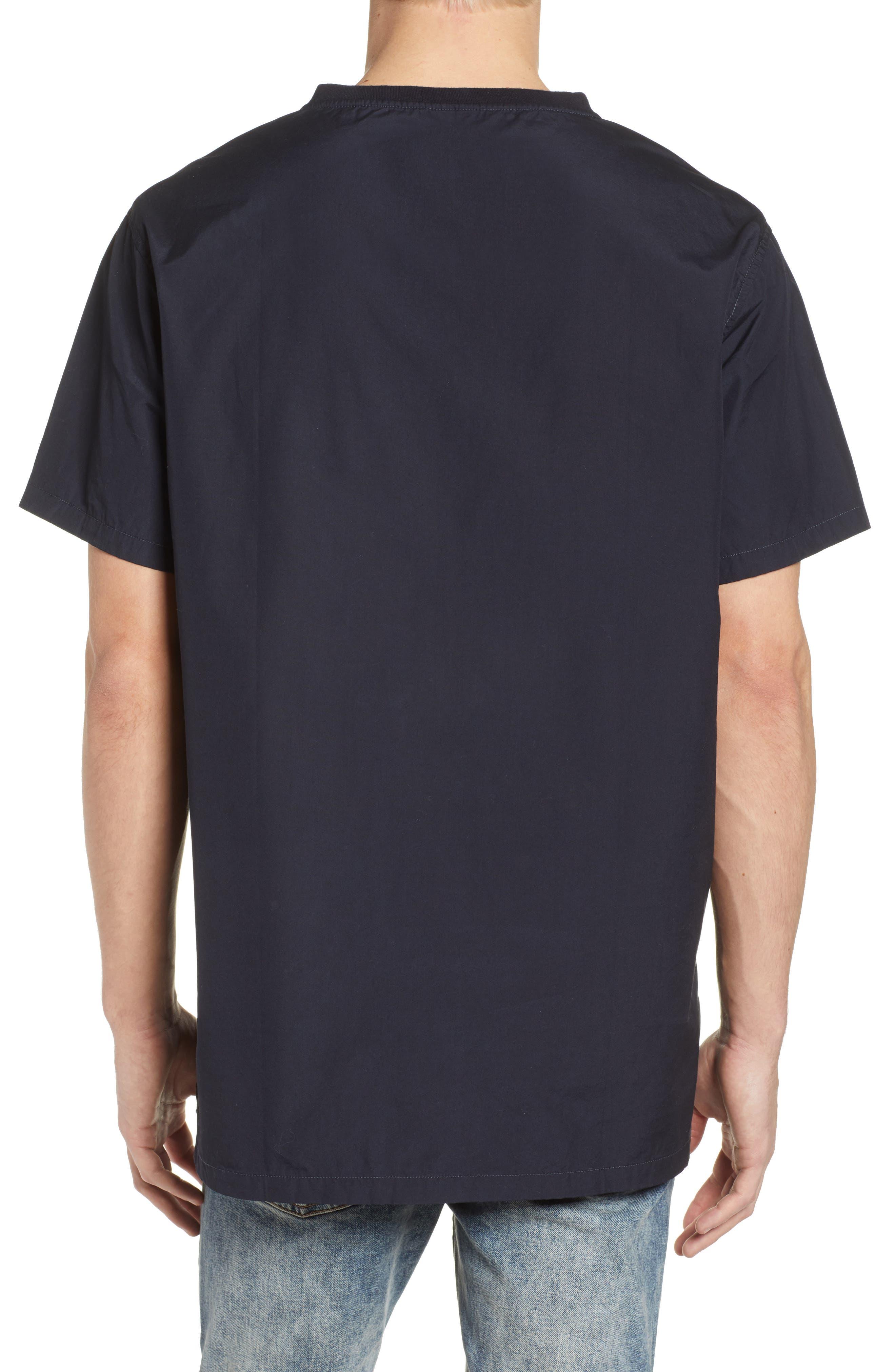 Woven T-Shirt,                             Alternate thumbnail 2, color,                             001