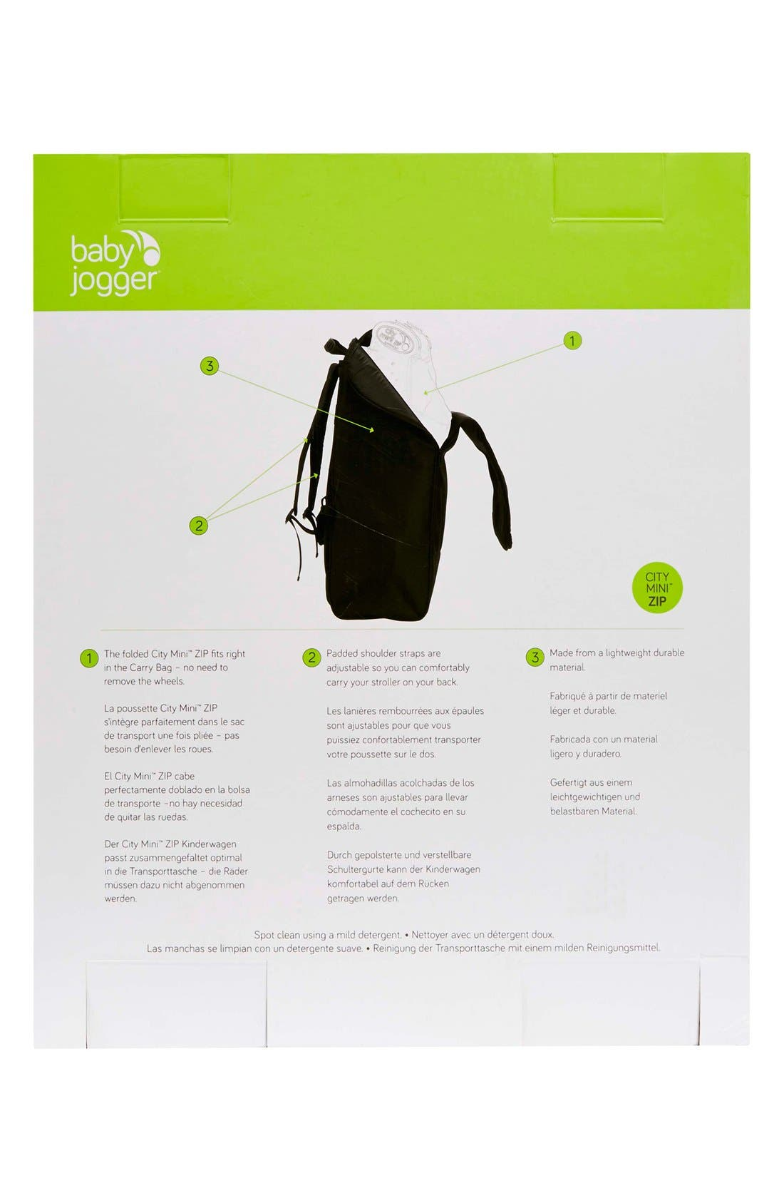 'City Mini<sup>®</sup> ZIP' Stroller Backpack Carry Bag,                             Alternate thumbnail 2, color,