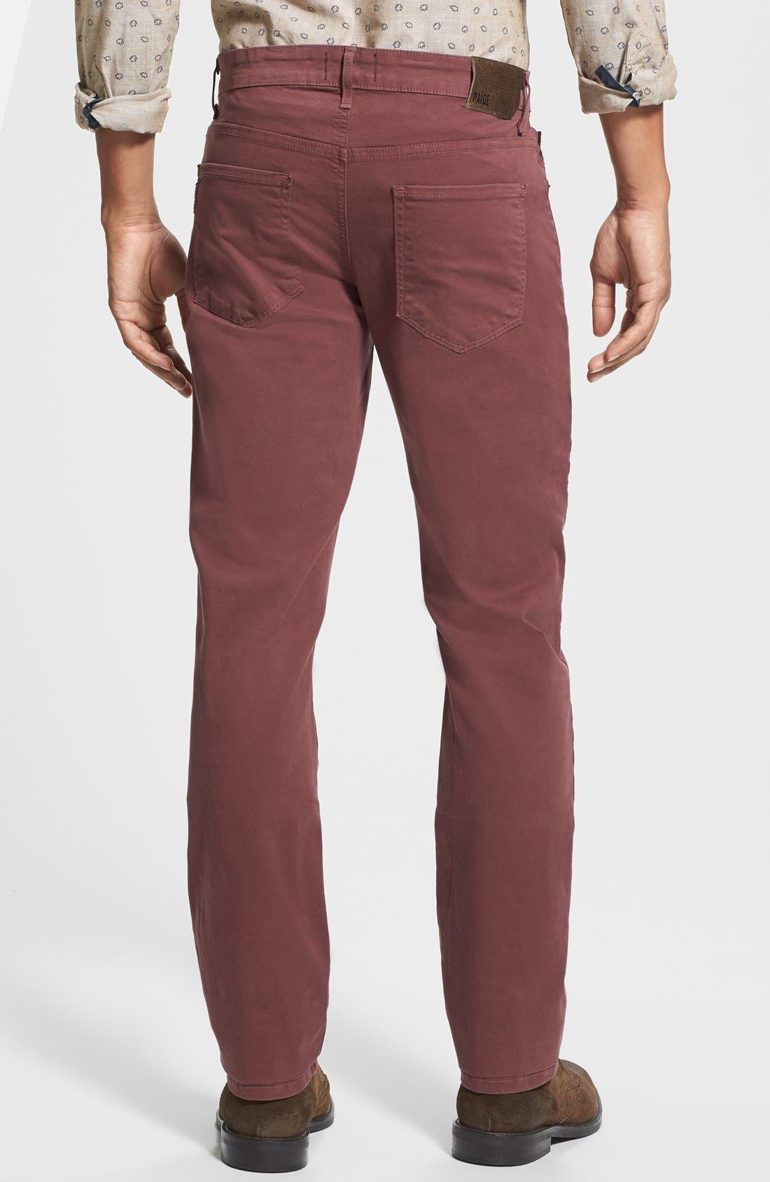 Normandie Slim Straight Leg Twill Pants,                             Alternate thumbnail 29, color,