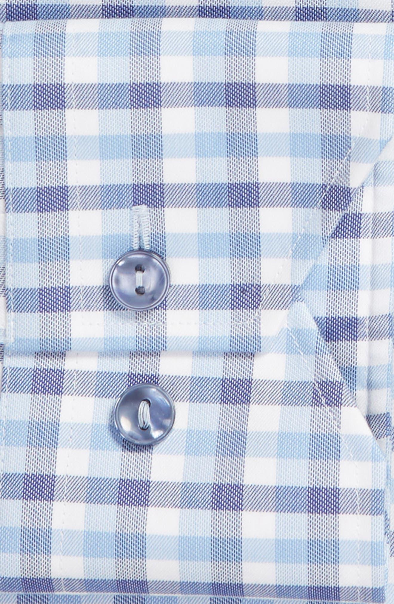 Trim Fit Check Dress Shirt,                             Alternate thumbnail 6, color,                             450