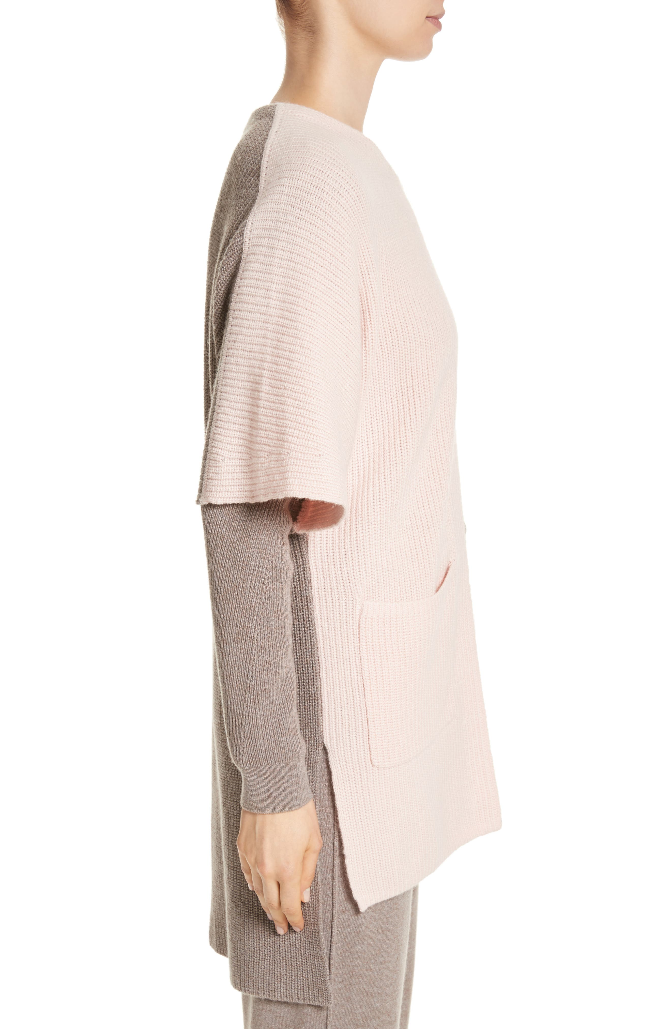 Patch Pocket Cashmere Cardigan,                             Alternate thumbnail 3, color,                             680