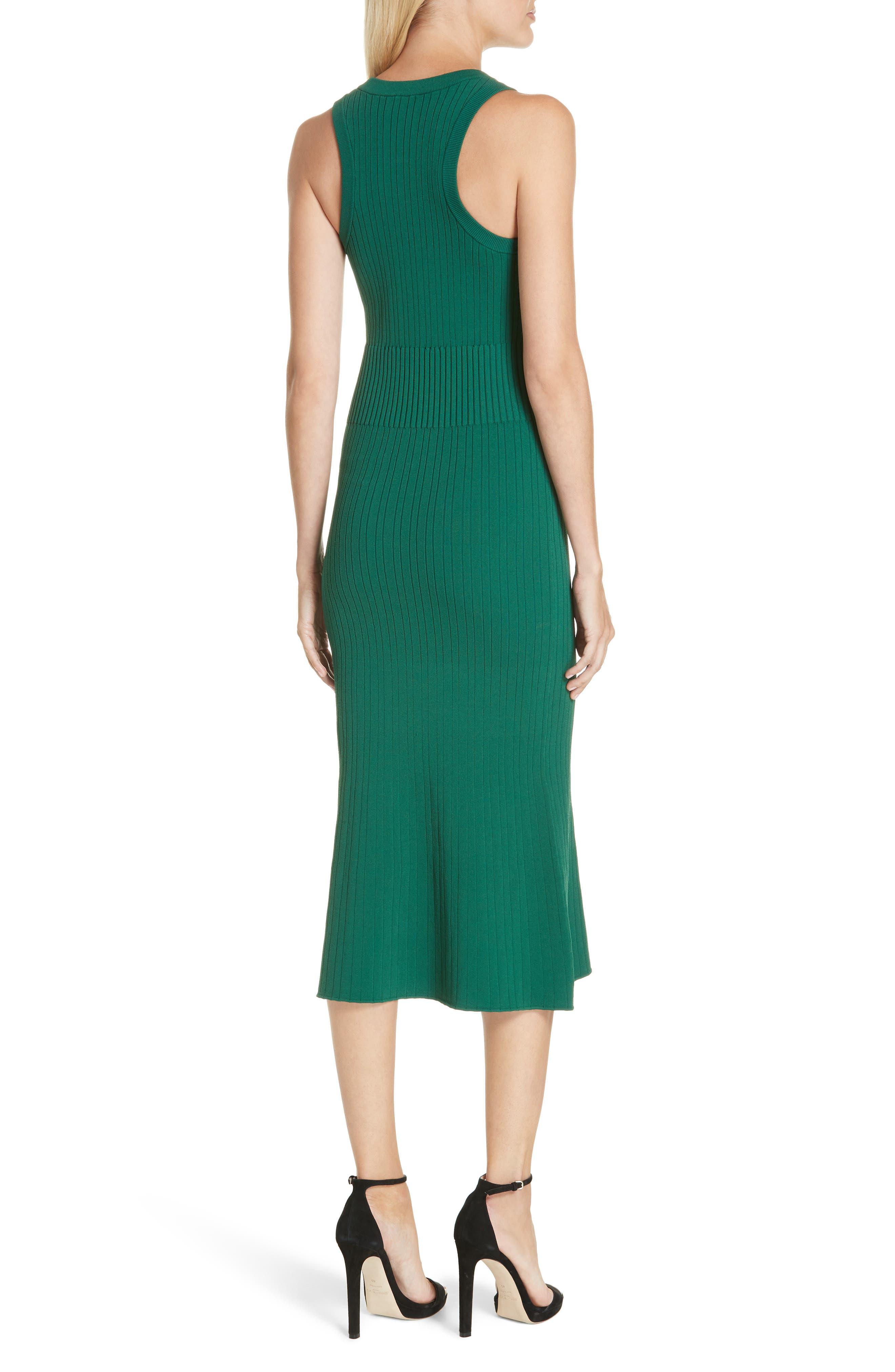 Rib Knit Midi Dress,                             Alternate thumbnail 3, color,