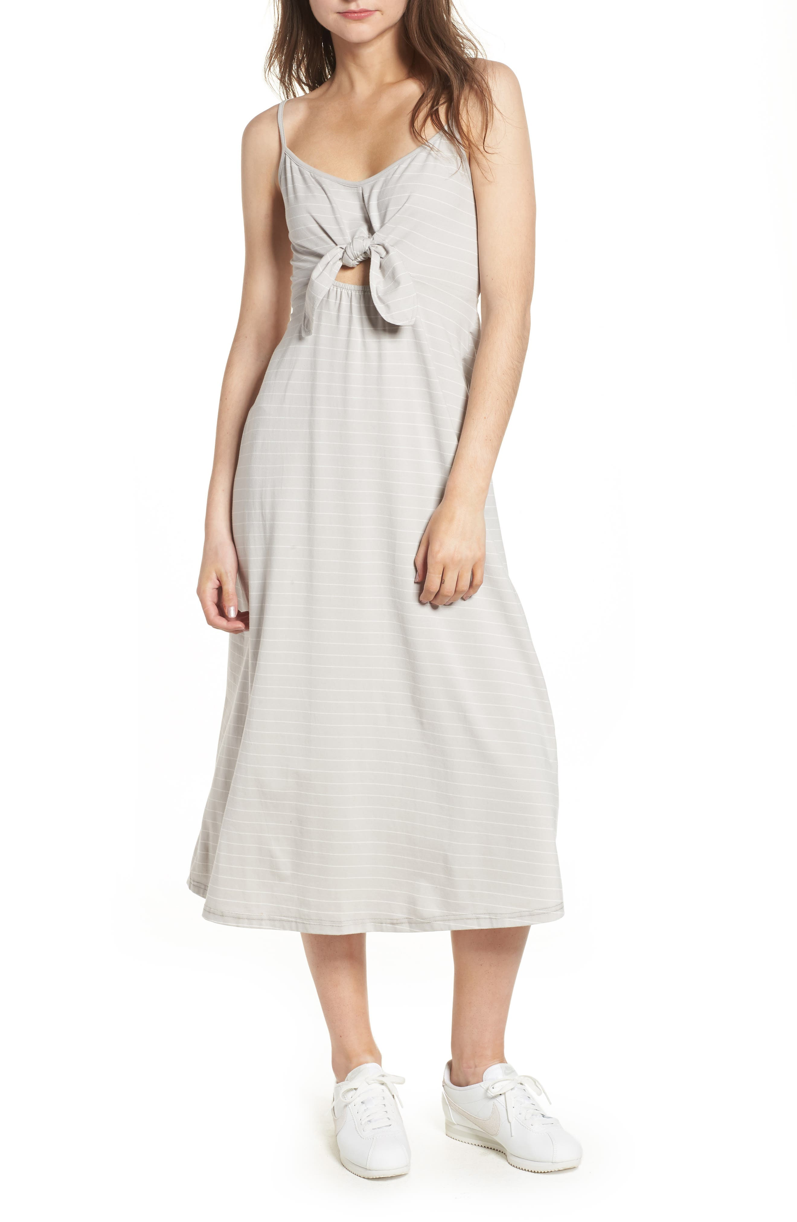 Suzanne Knot Front Dress,                             Main thumbnail 2, color,