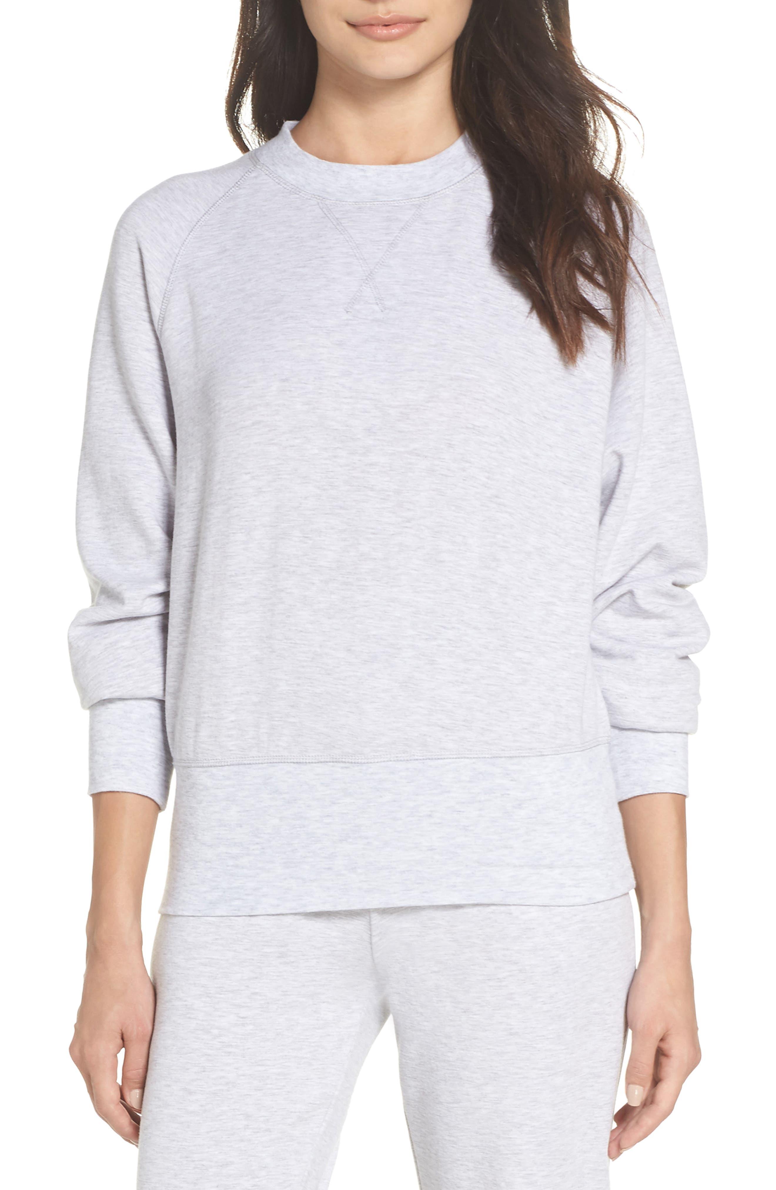 Cool Touch Sweatshirt,                             Main thumbnail 1, color,                             GREY