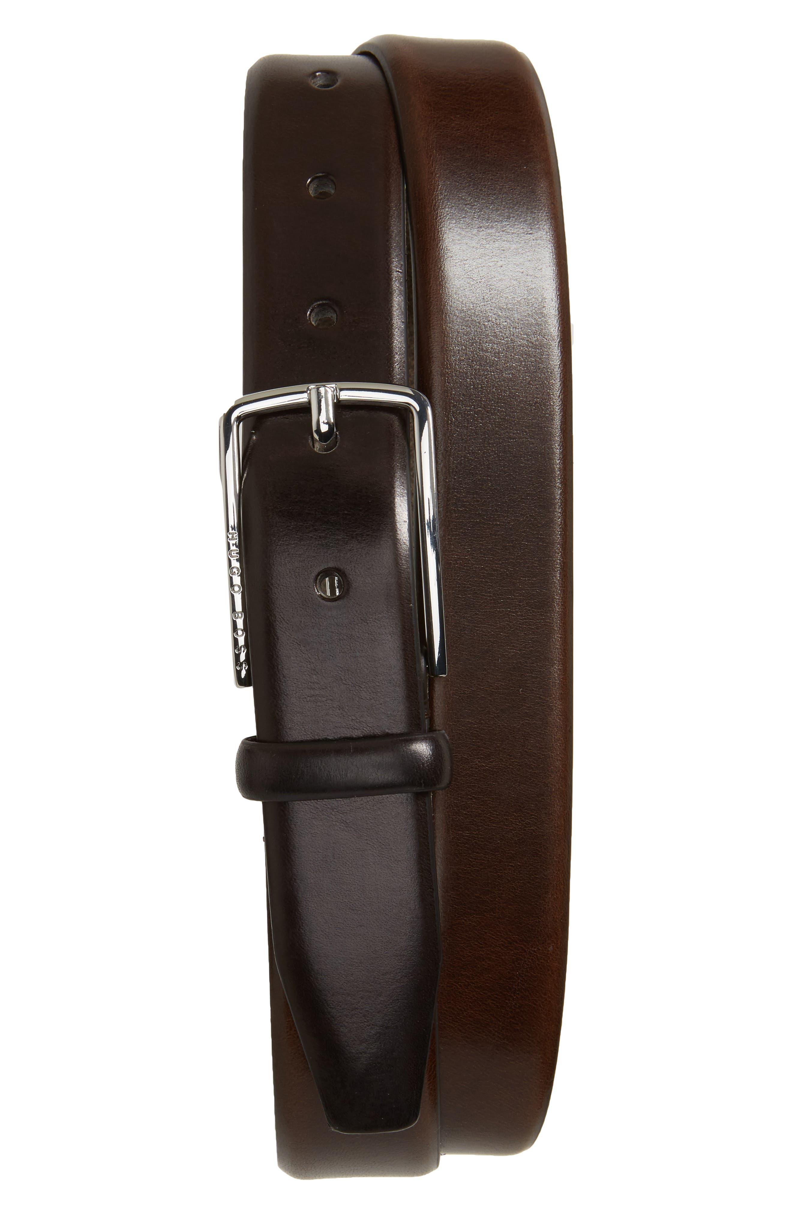 Chuck Calfskin Leather Belt,                             Main thumbnail 2, color,