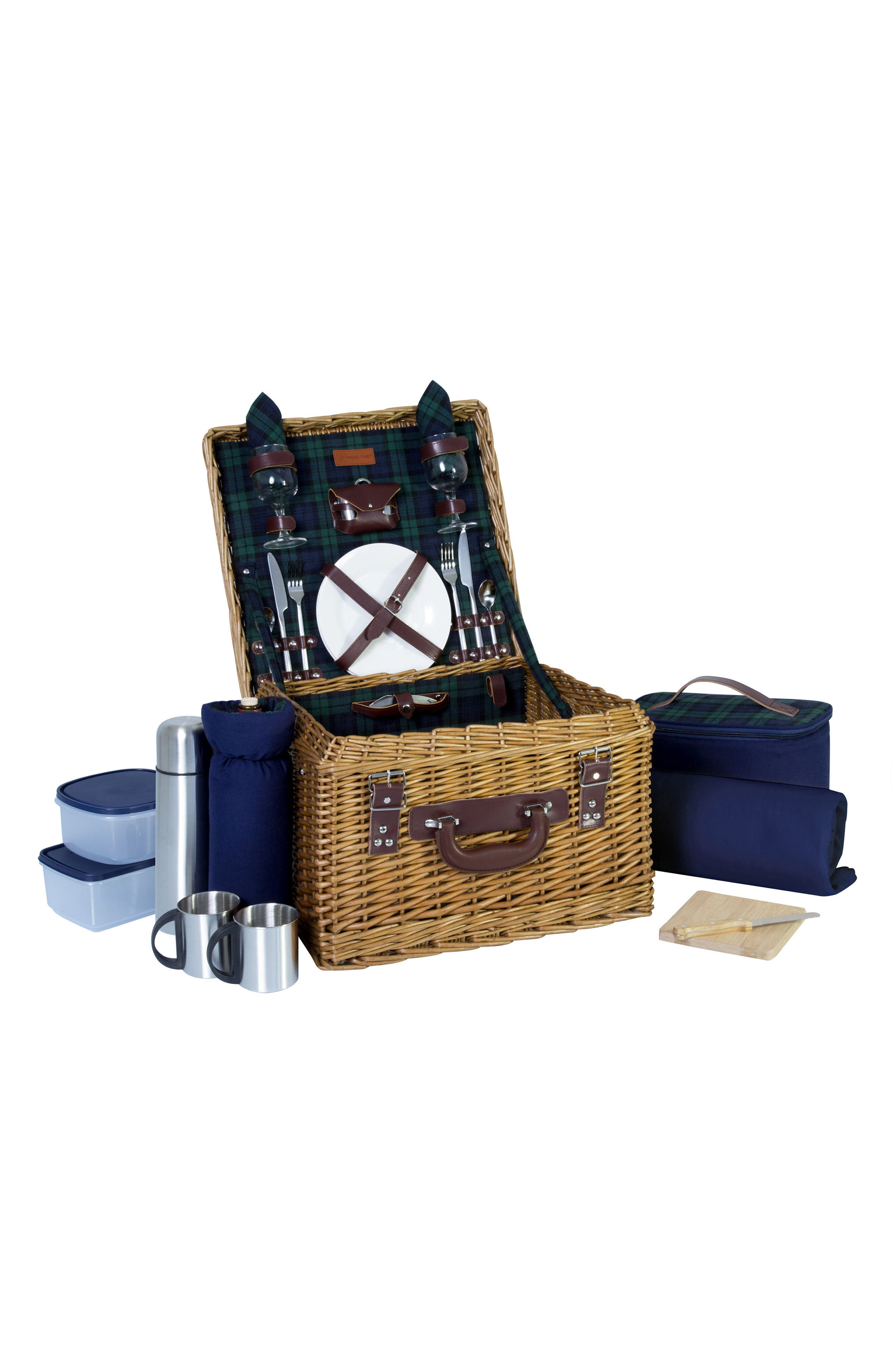 Canterbury Wicker Picnic Basket,                             Alternate thumbnail 2, color,                             401