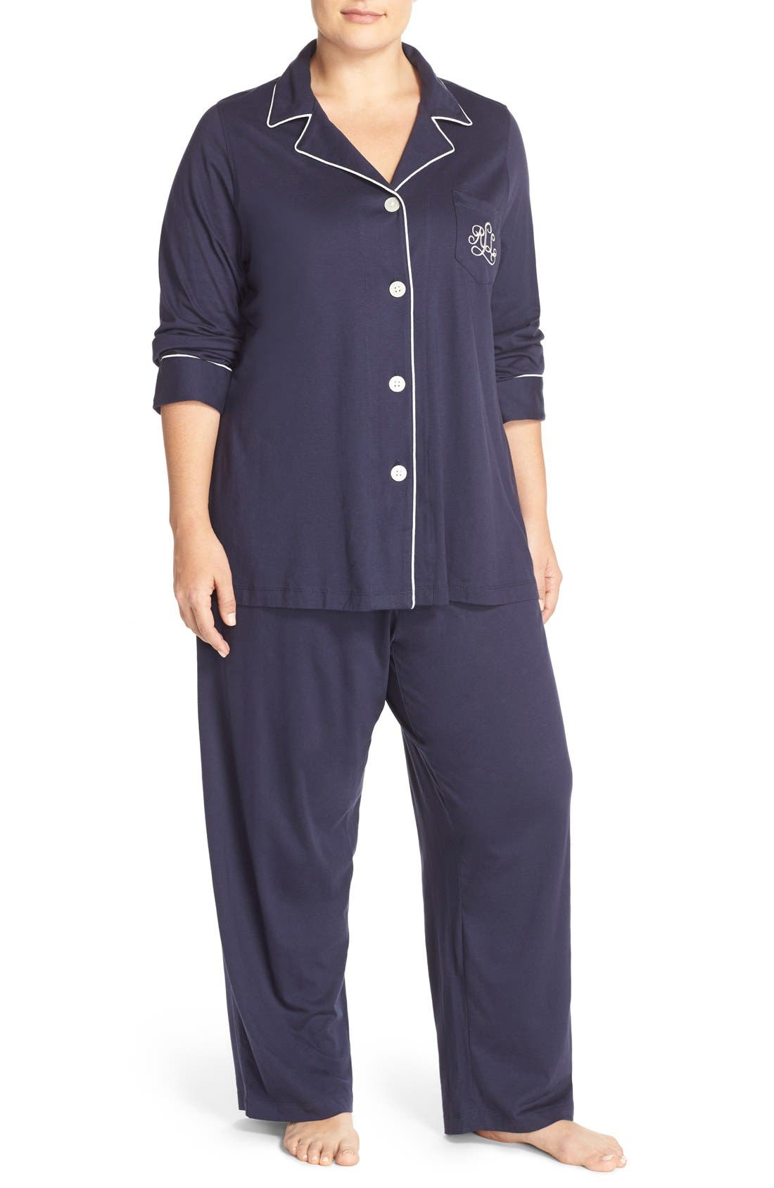 Knit Pajamas,                         Main,                         color, 410
