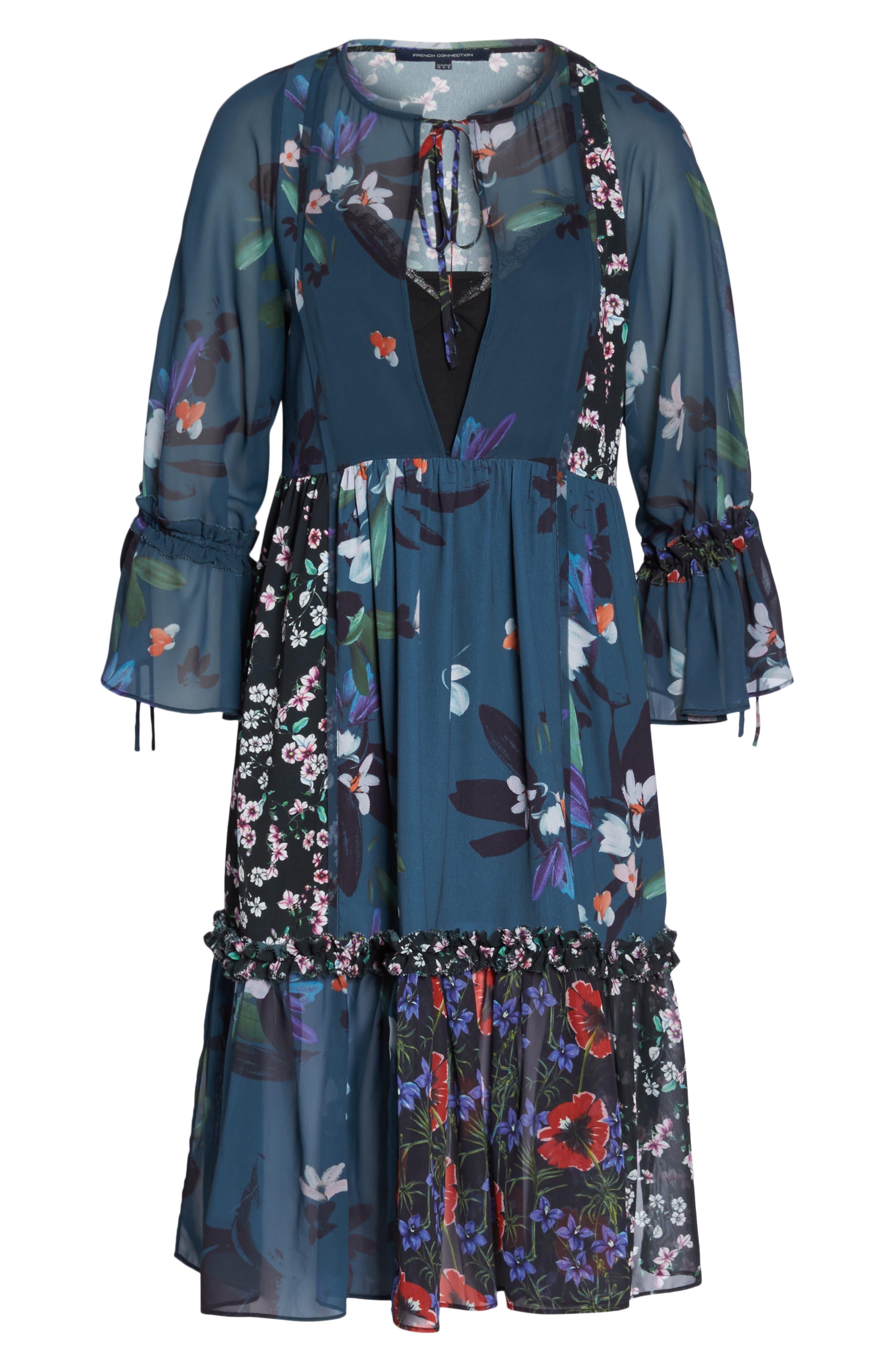 Celia Midi Dress,                             Alternate thumbnail 6, color,                             451