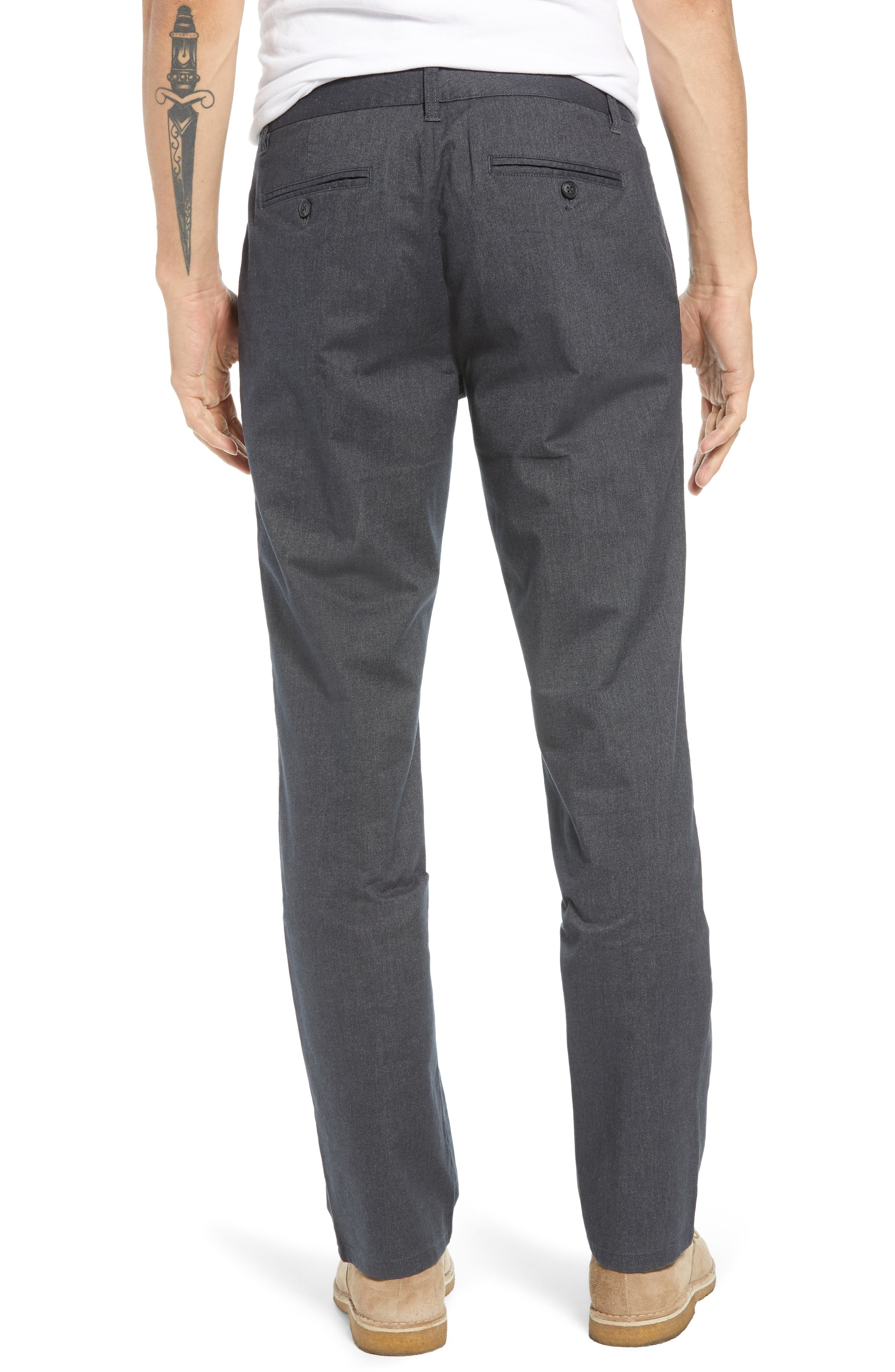 Tailored Fit Stretch Yarn-Dye Washed Chinos,                             Alternate thumbnail 2, color,                             020