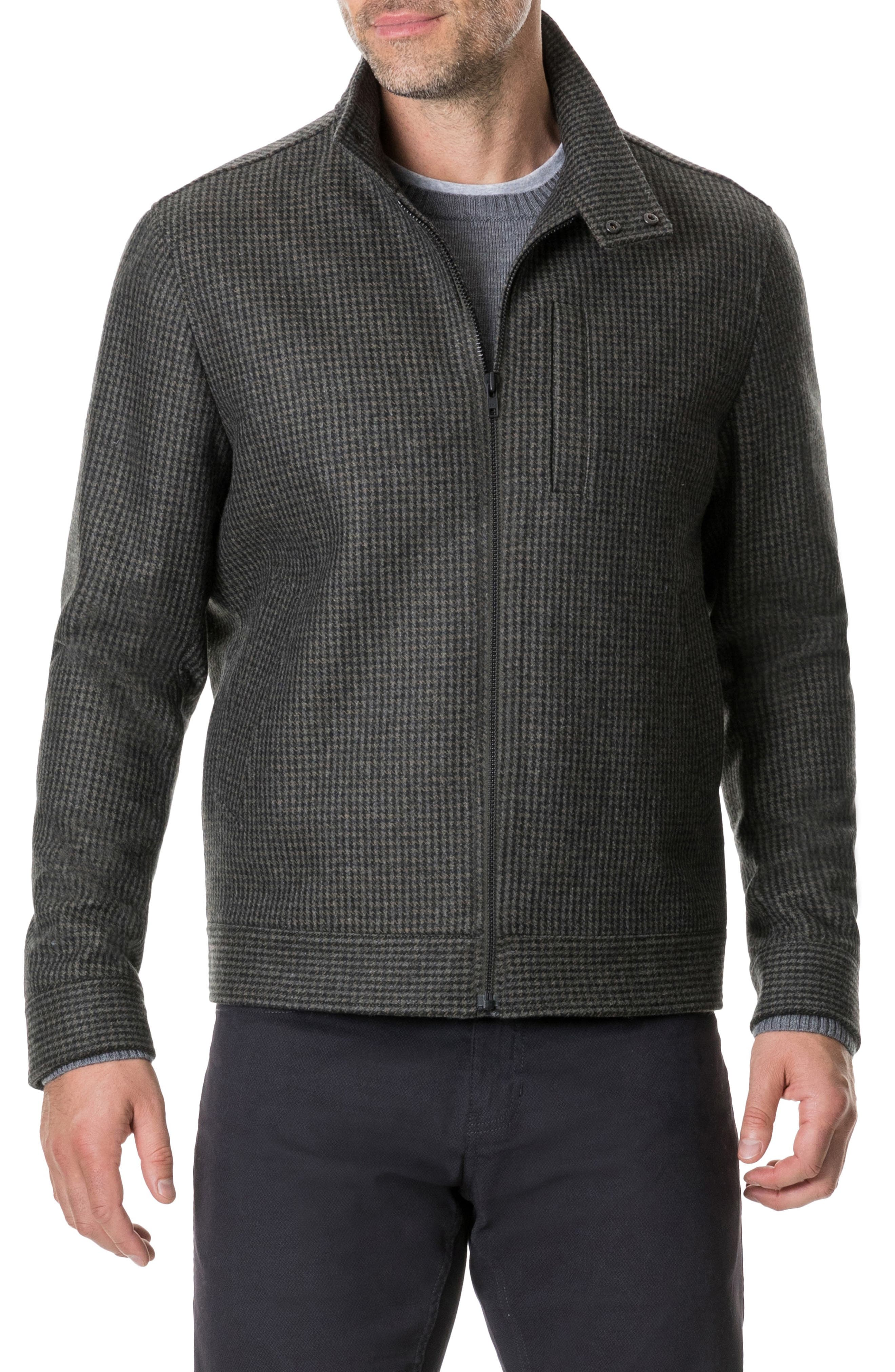 Oyster Cove Regular Fit Wool Blend Jacket,                             Main thumbnail 1, color,                             OLIVE