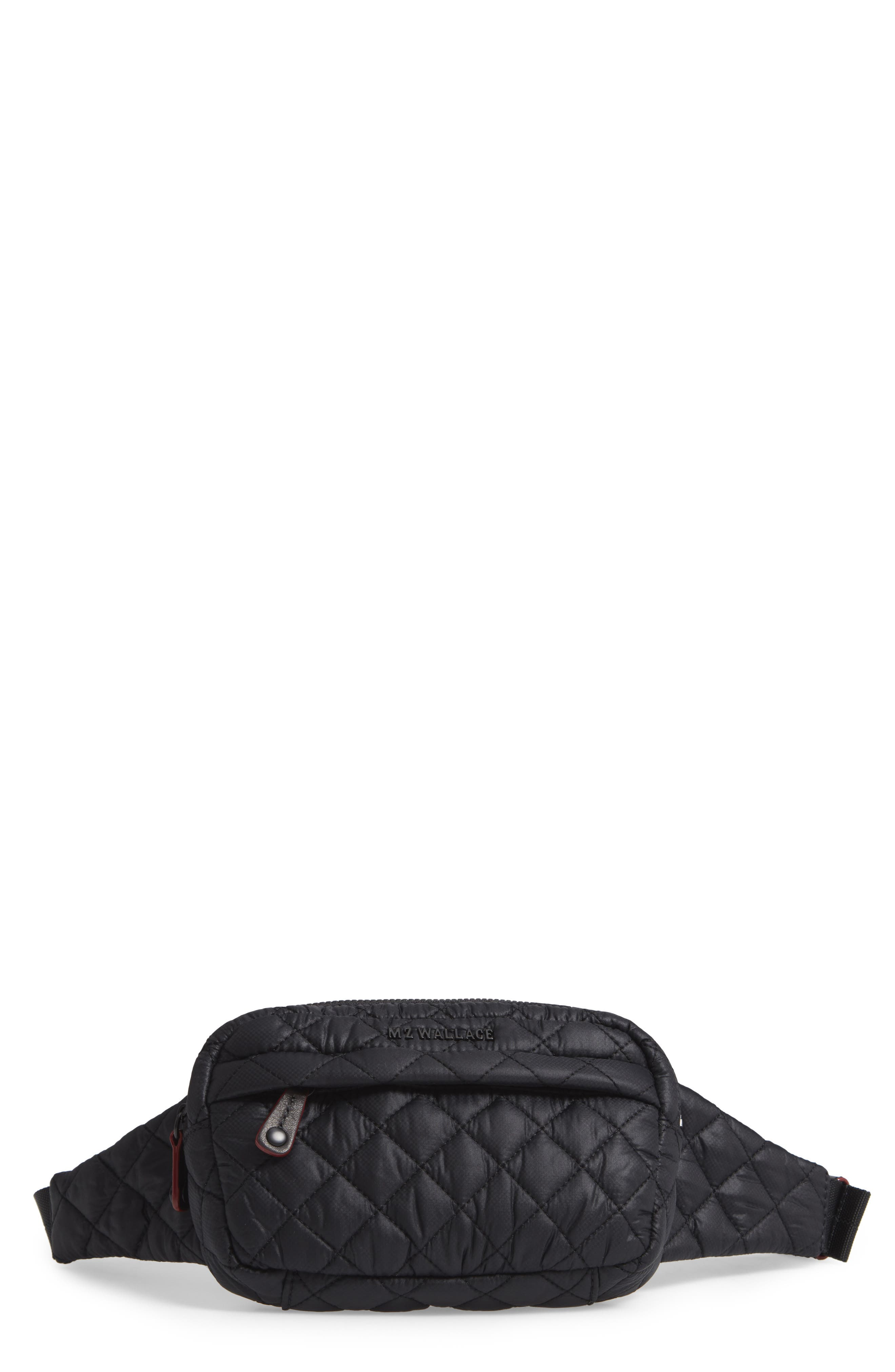 Metro Quilted Belt Bag,                             Main thumbnail 1, color,                             BLACK