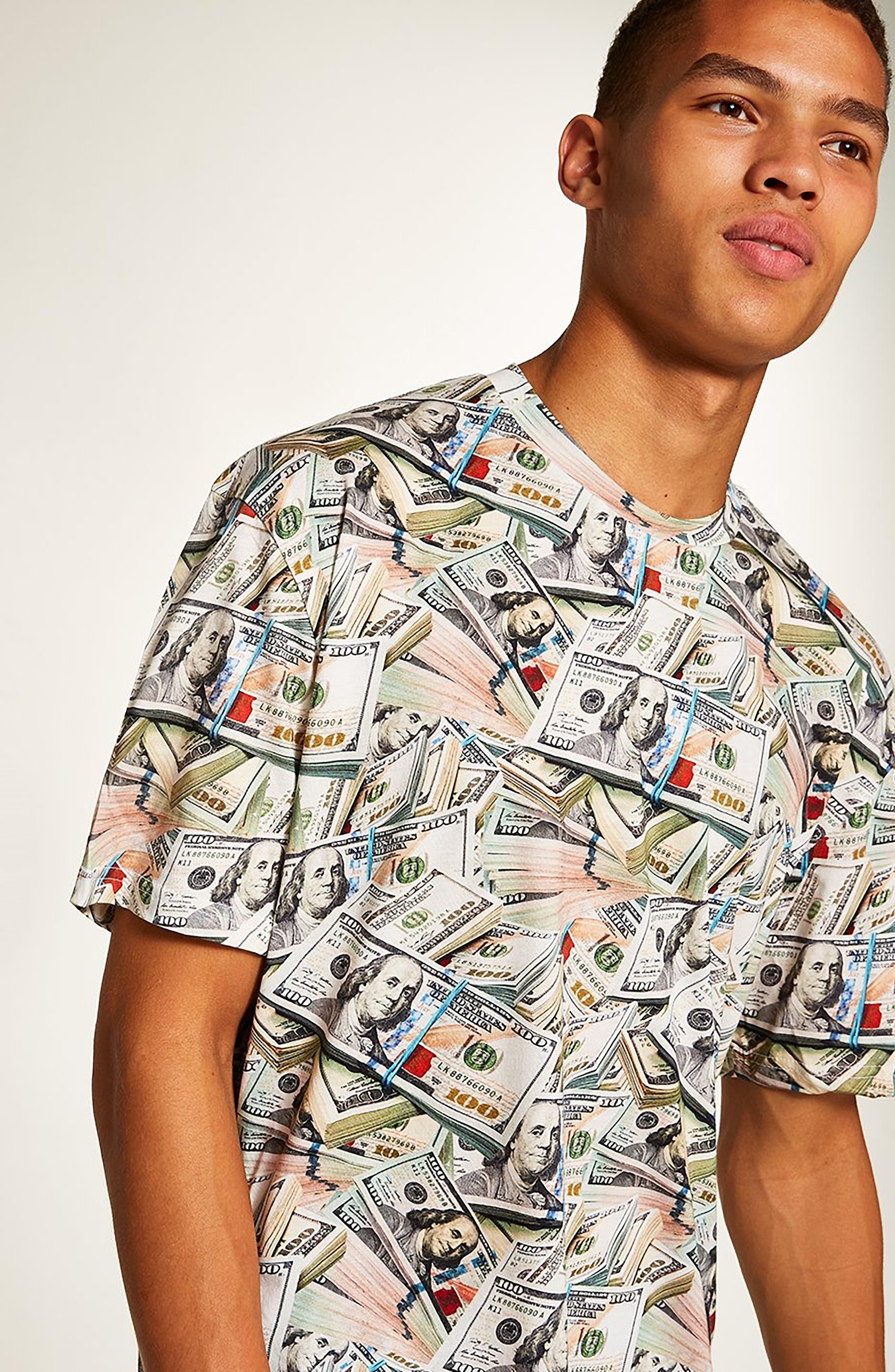 Money Print T-Shirt,                             Alternate thumbnail 4, color,                             300