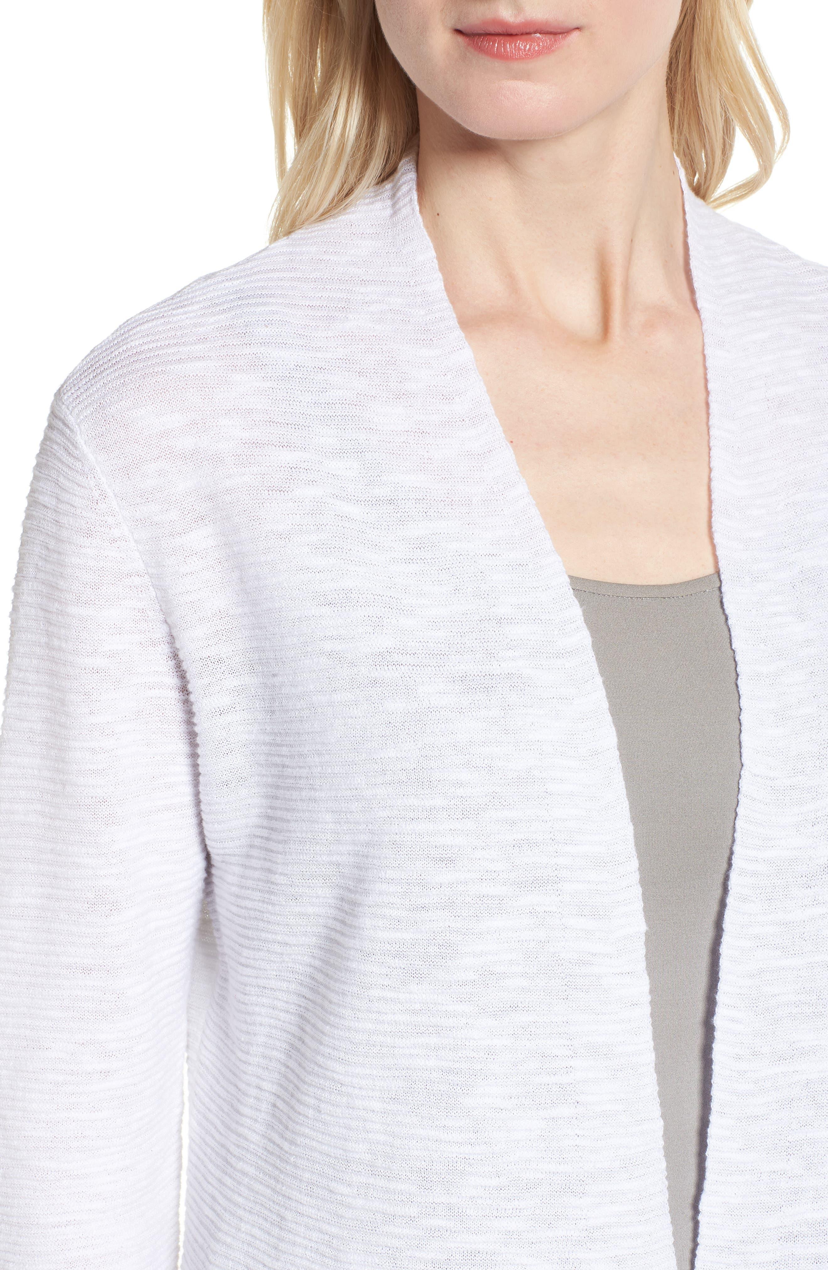 Simple Organic Linen & Cotton Cardigan,                             Alternate thumbnail 11, color,