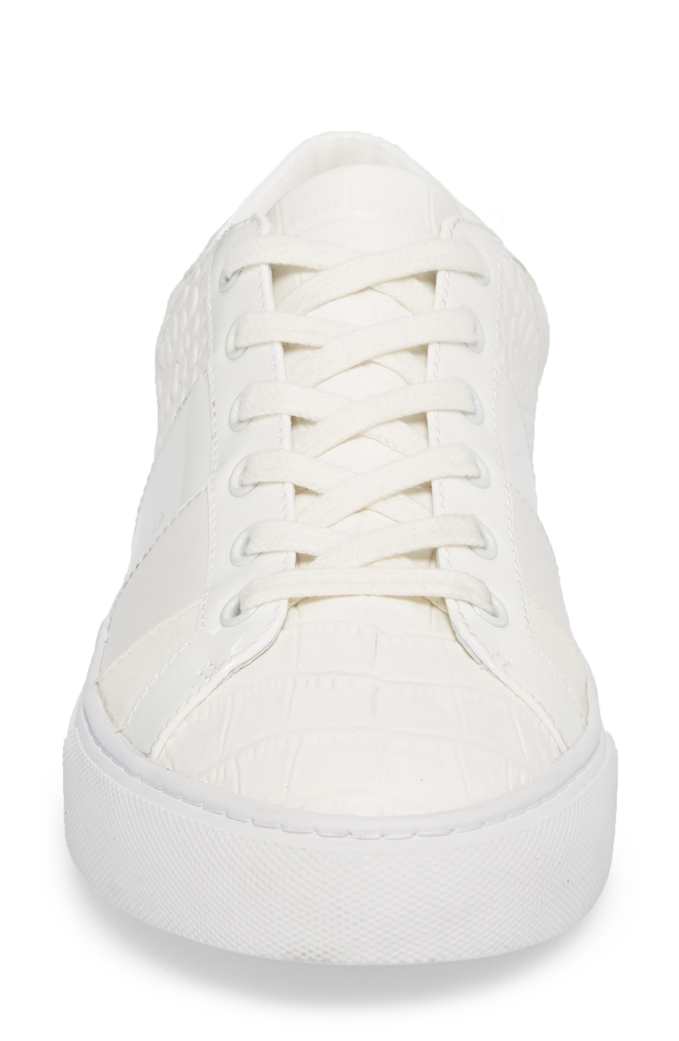 Ames Sneaker,                             Alternate thumbnail 4, color,                             SNOW WHITE