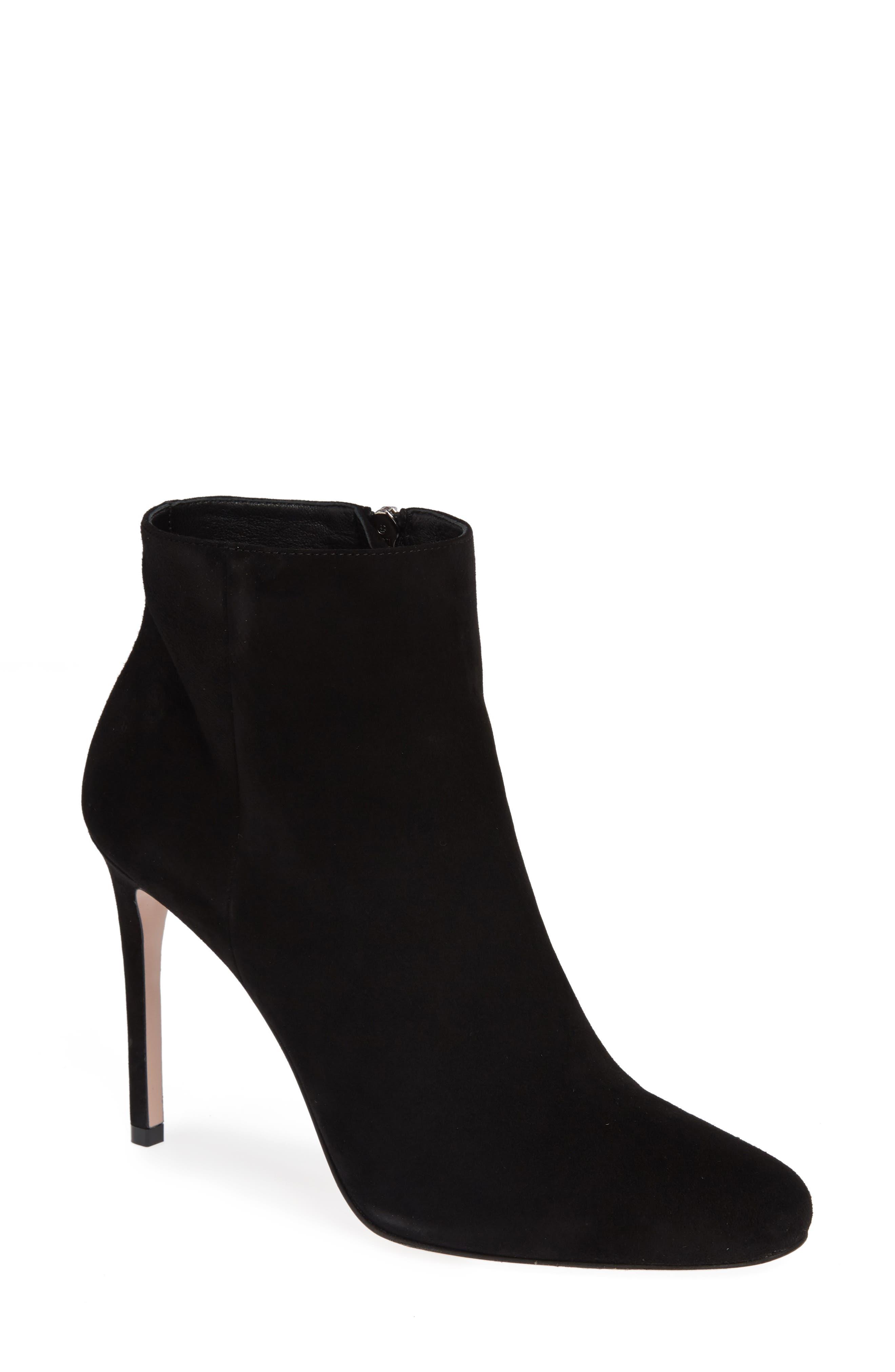 Stiletto Bootie,                         Main,                         color, BLACK
