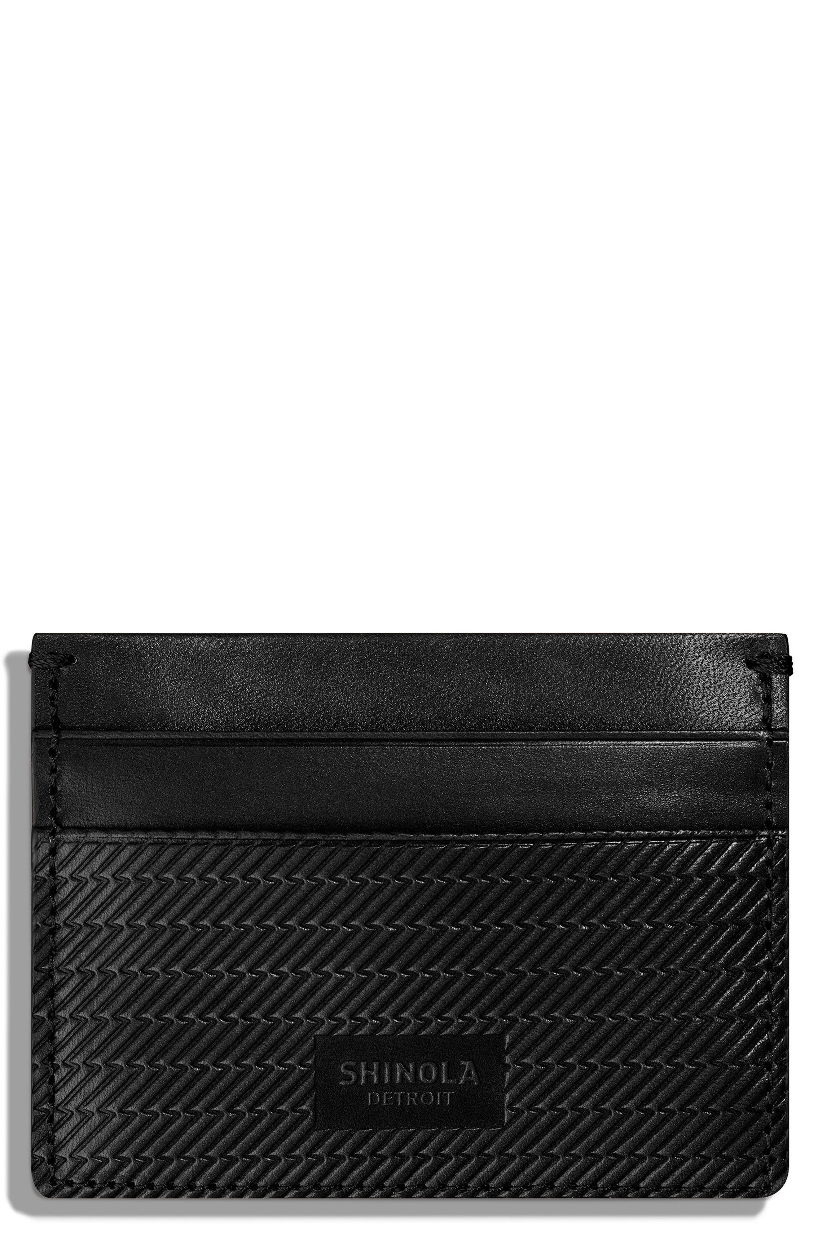 Leather Card Case,                             Main thumbnail 1, color,                             001
