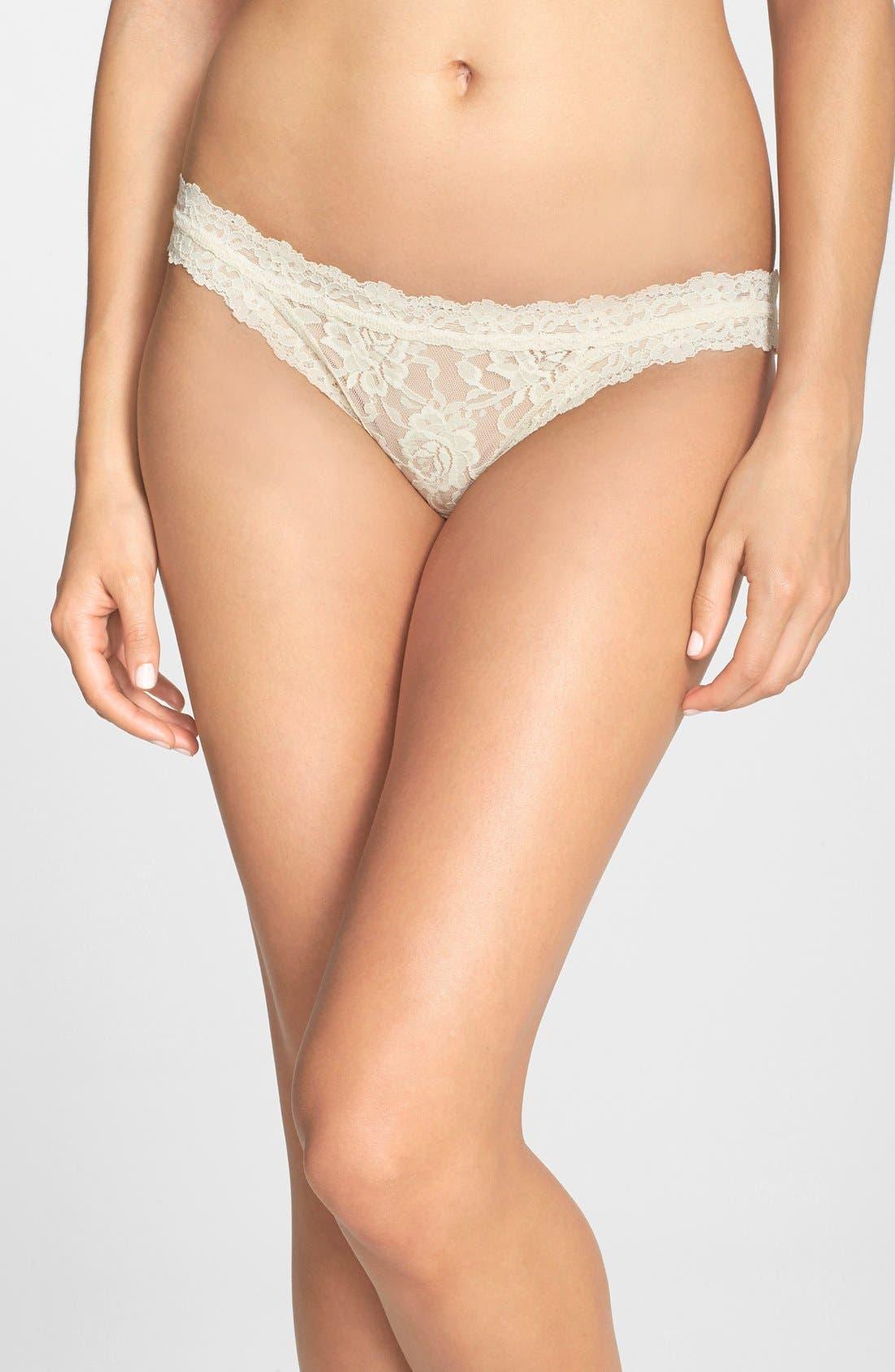 'Signature Lace' Brazilian Bikini,                             Main thumbnail 4, color,