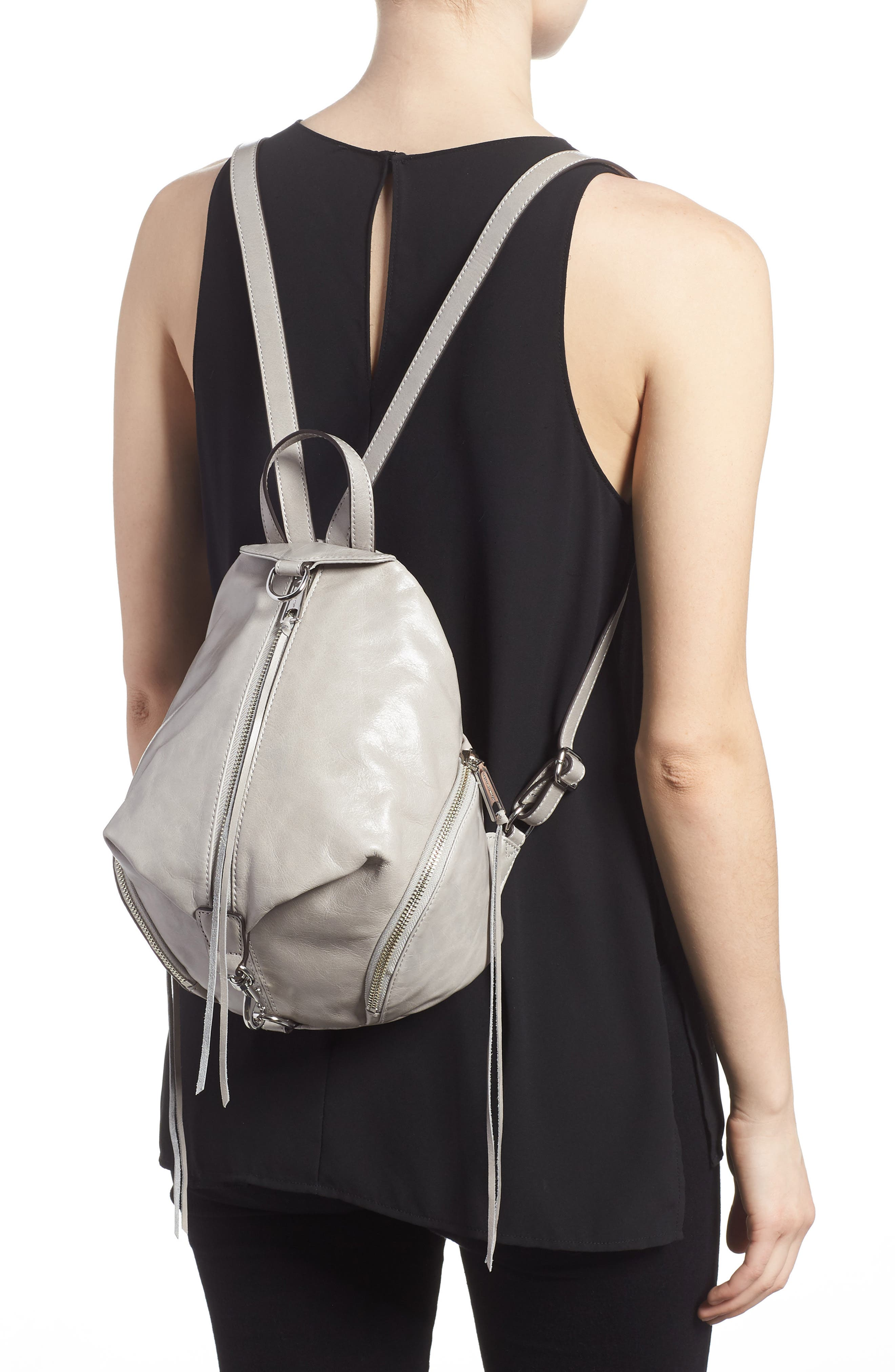 Medium Julian Leather Backpack,                             Alternate thumbnail 2, color,                             090