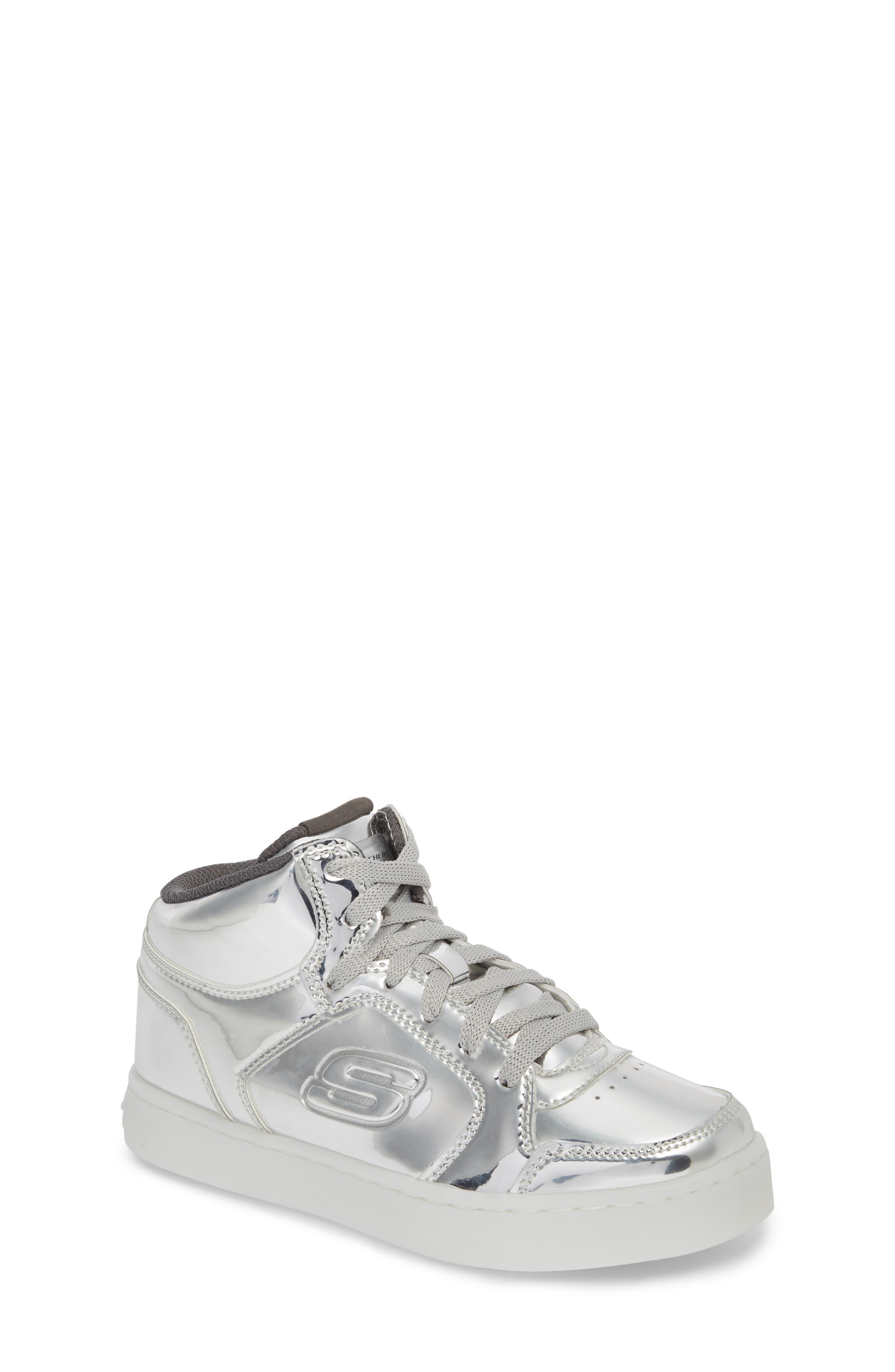 Energy Lights Metallic High Top Sneaker,                             Main thumbnail 2, color,