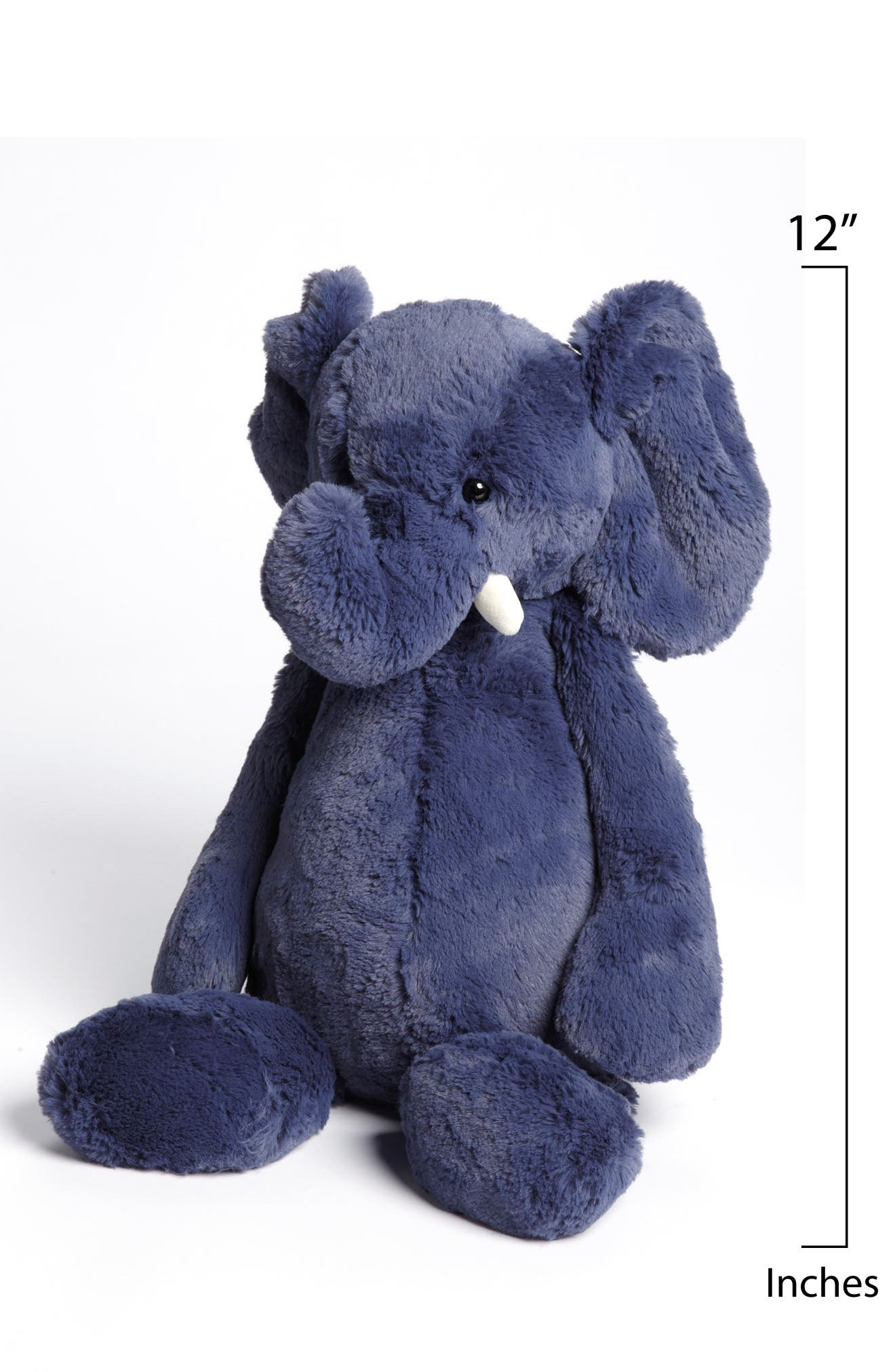 'Bashful Elephant' Stuffed Animal,                             Alternate thumbnail 2, color,                             BLUE
