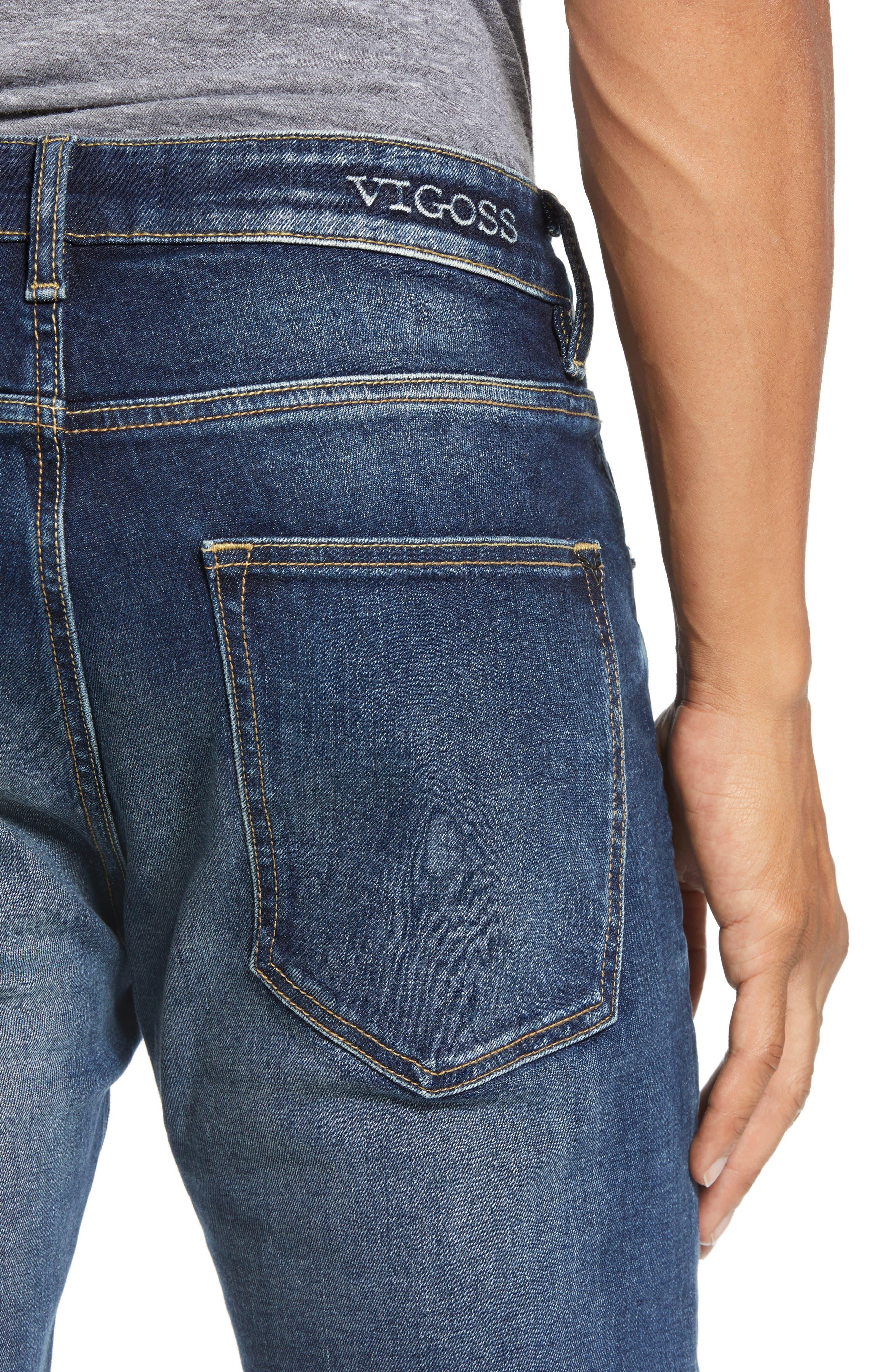 Slim Fit Jeans,                             Alternate thumbnail 4, color,                             PURE BLUE