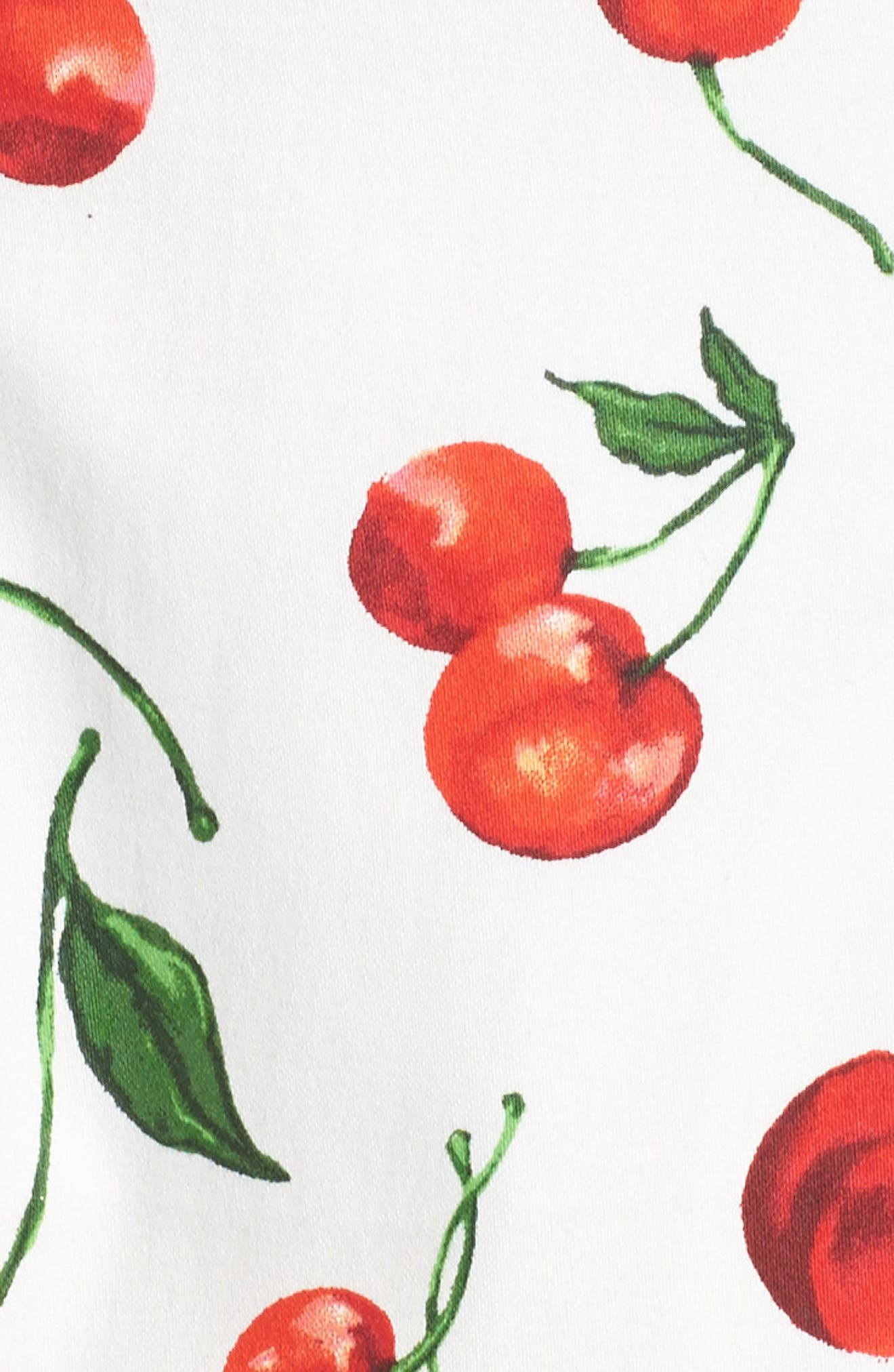 Print Fit & Flare Dress,                             Alternate thumbnail 6, color,                             143